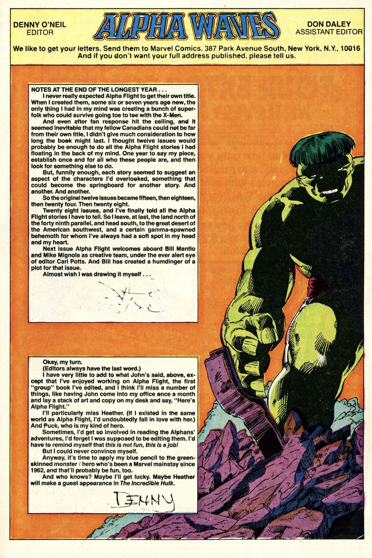 Read online Alpha Flight (1983) comic -  Issue #28 - 24