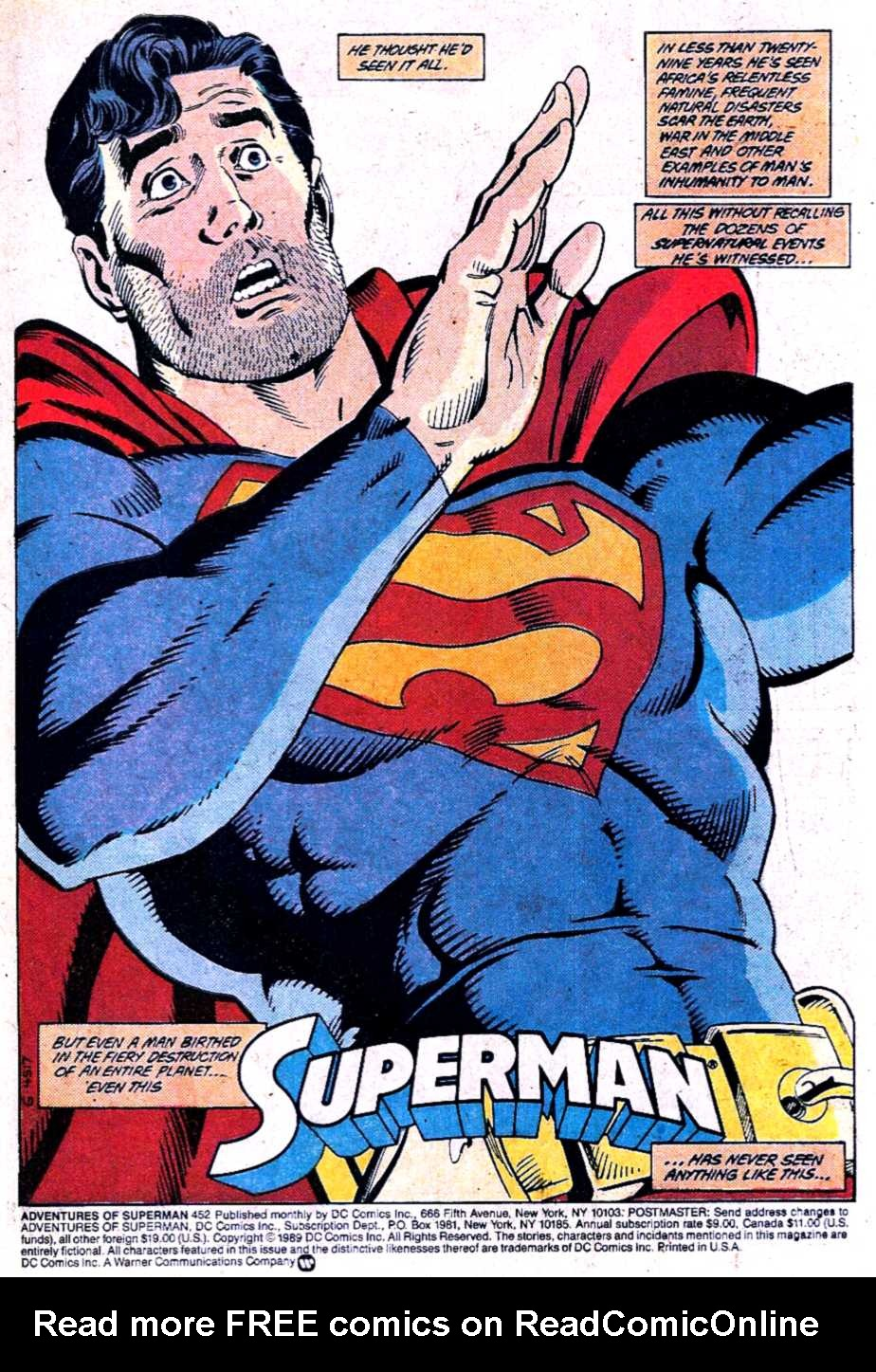 Read online Adventures of Superman (1987) comic -  Issue #452 - 2