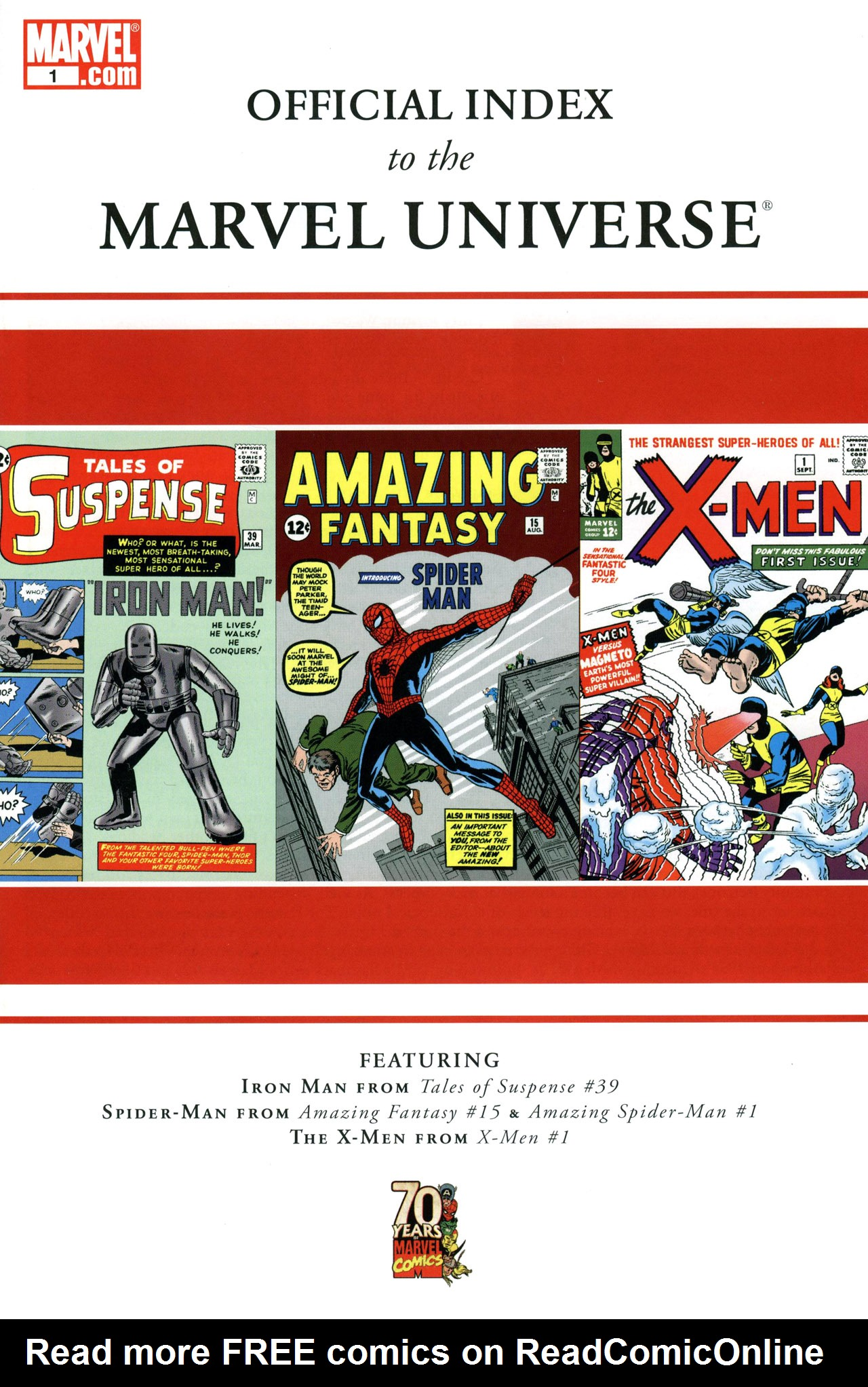 Read online Official Index to the Marvel Universe comic -  Issue #1 - 1