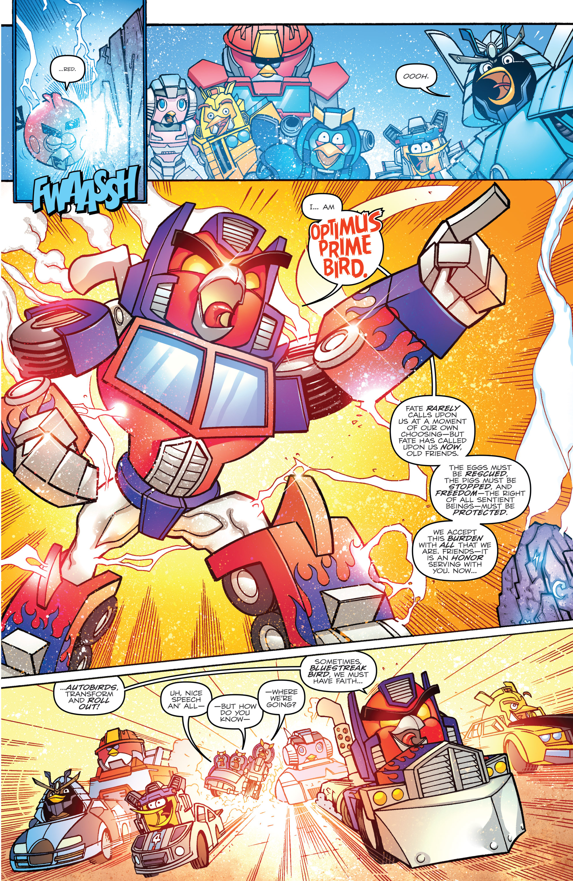 Read online Angry Birds Transformers comic -  Issue #2 - 9