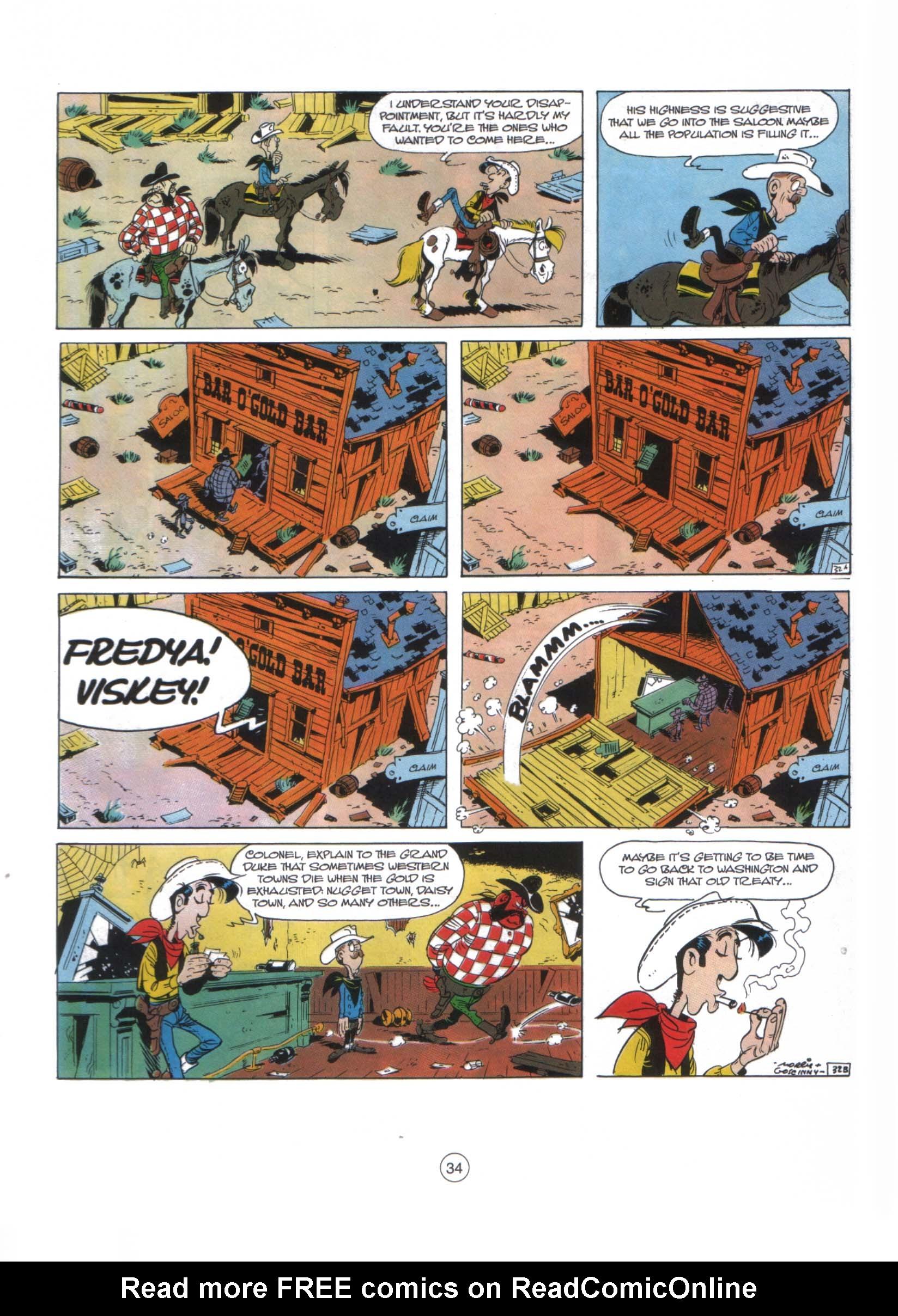 Read online A Lucky Luke Adventure comic -  Issue #29 - 33