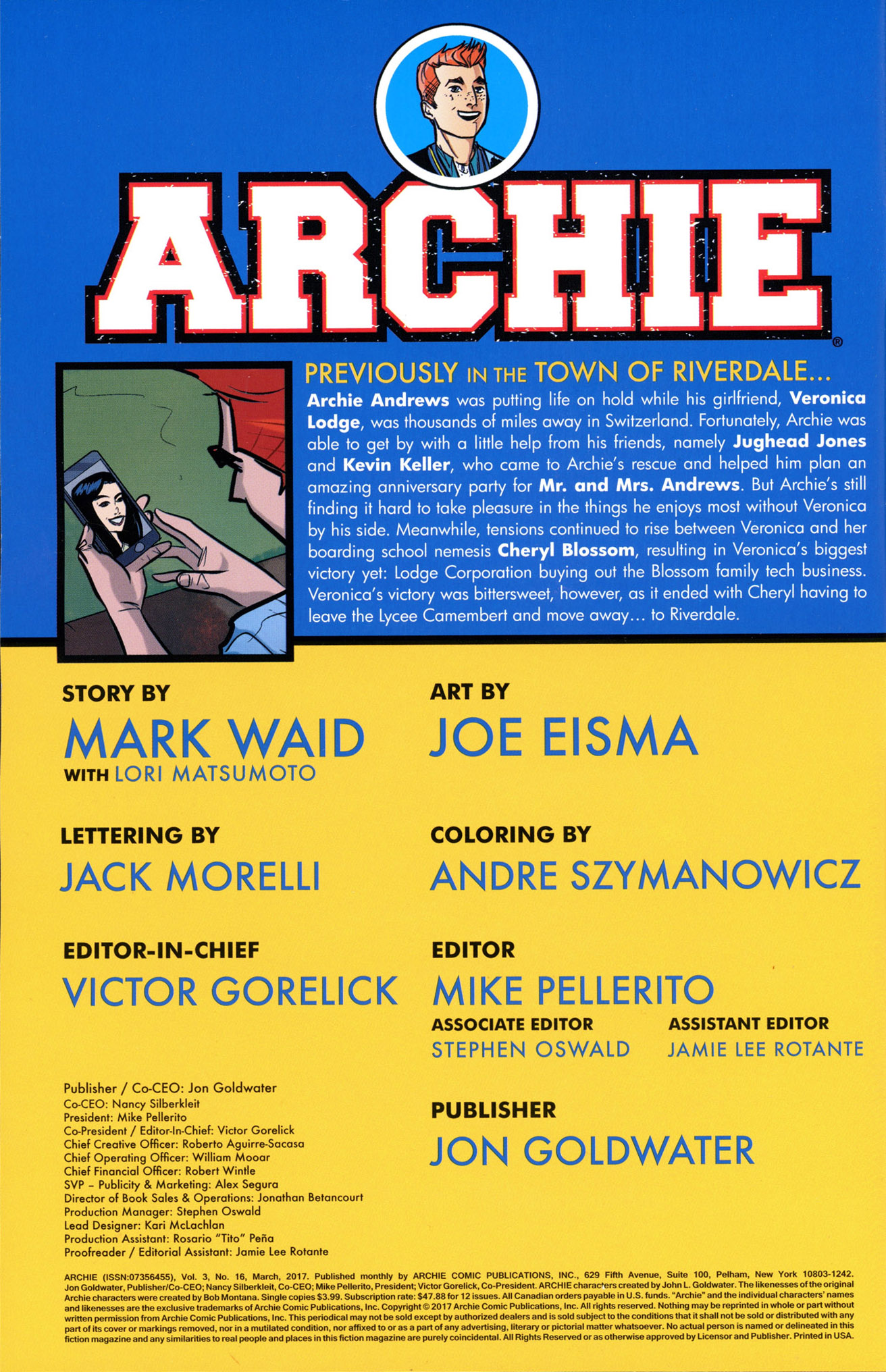 Read online Archie (2015) comic -  Issue #16 - 2