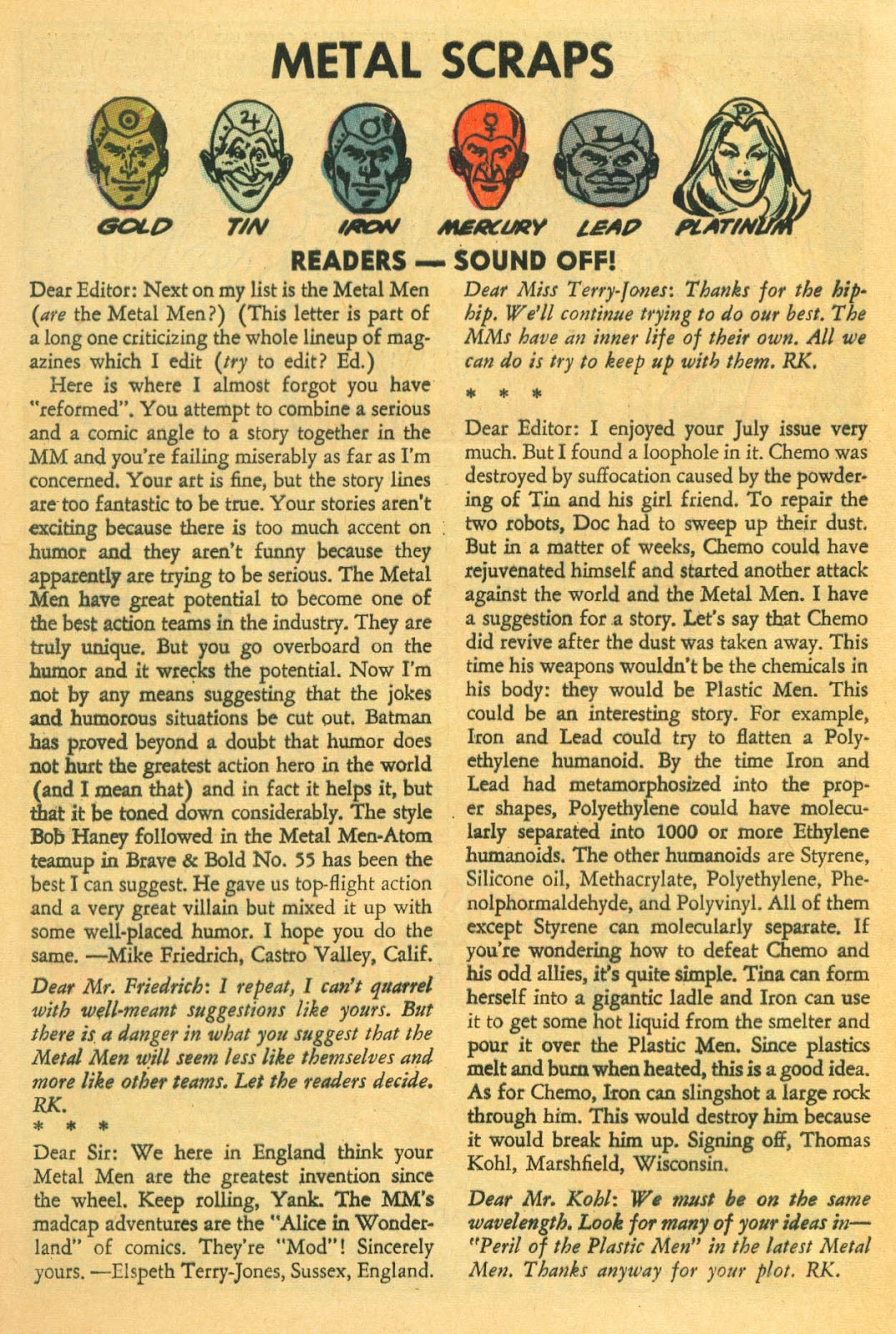 Metal Men (1963) issue 22 - Page 32