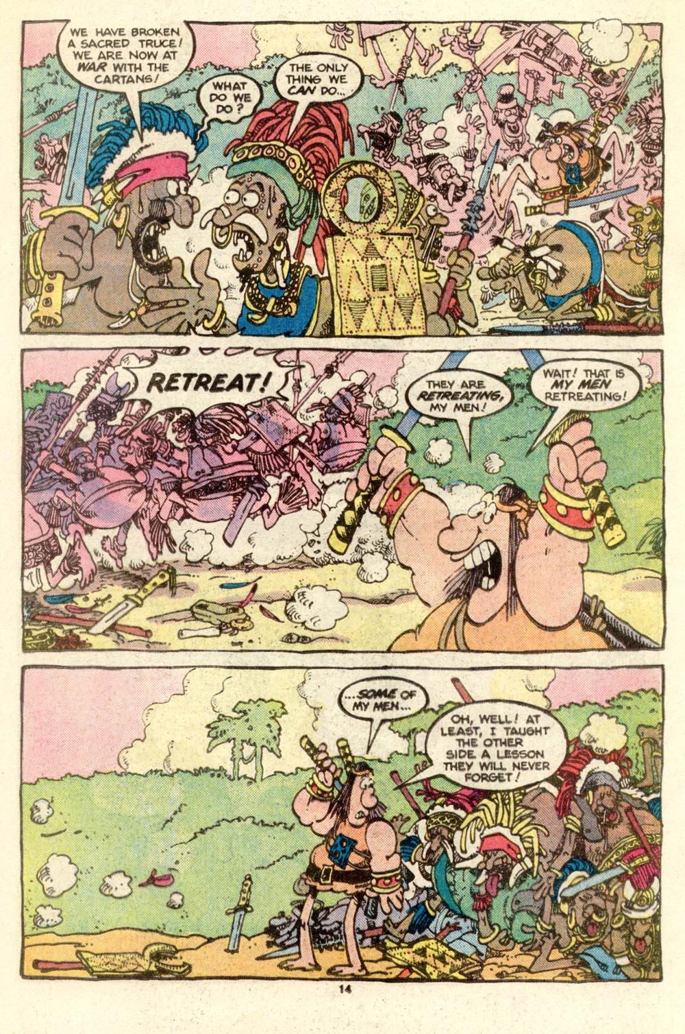 Read online Sergio Aragonés Groo the Wanderer comic -  Issue #17 - 14
