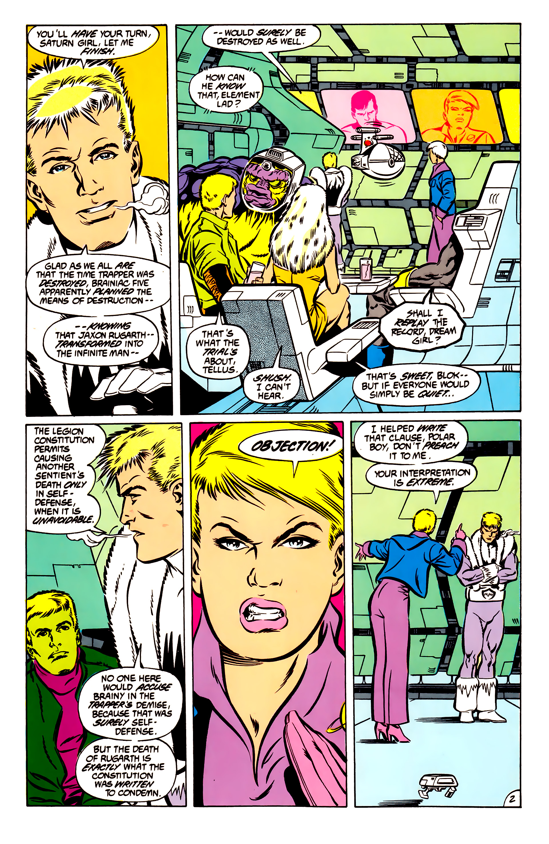 Legion of Super-Heroes (1984) 51 Page 2