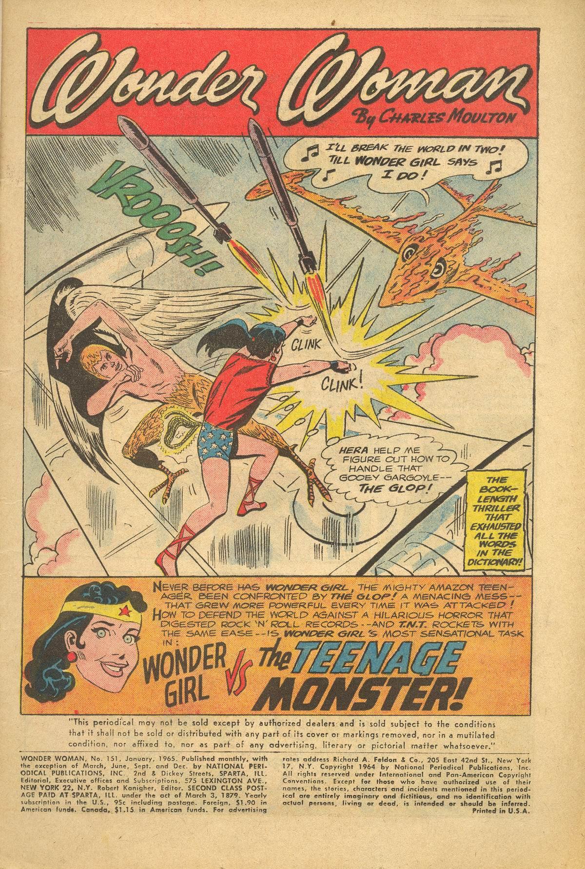 Read online Wonder Woman (1942) comic -  Issue #151 - 3