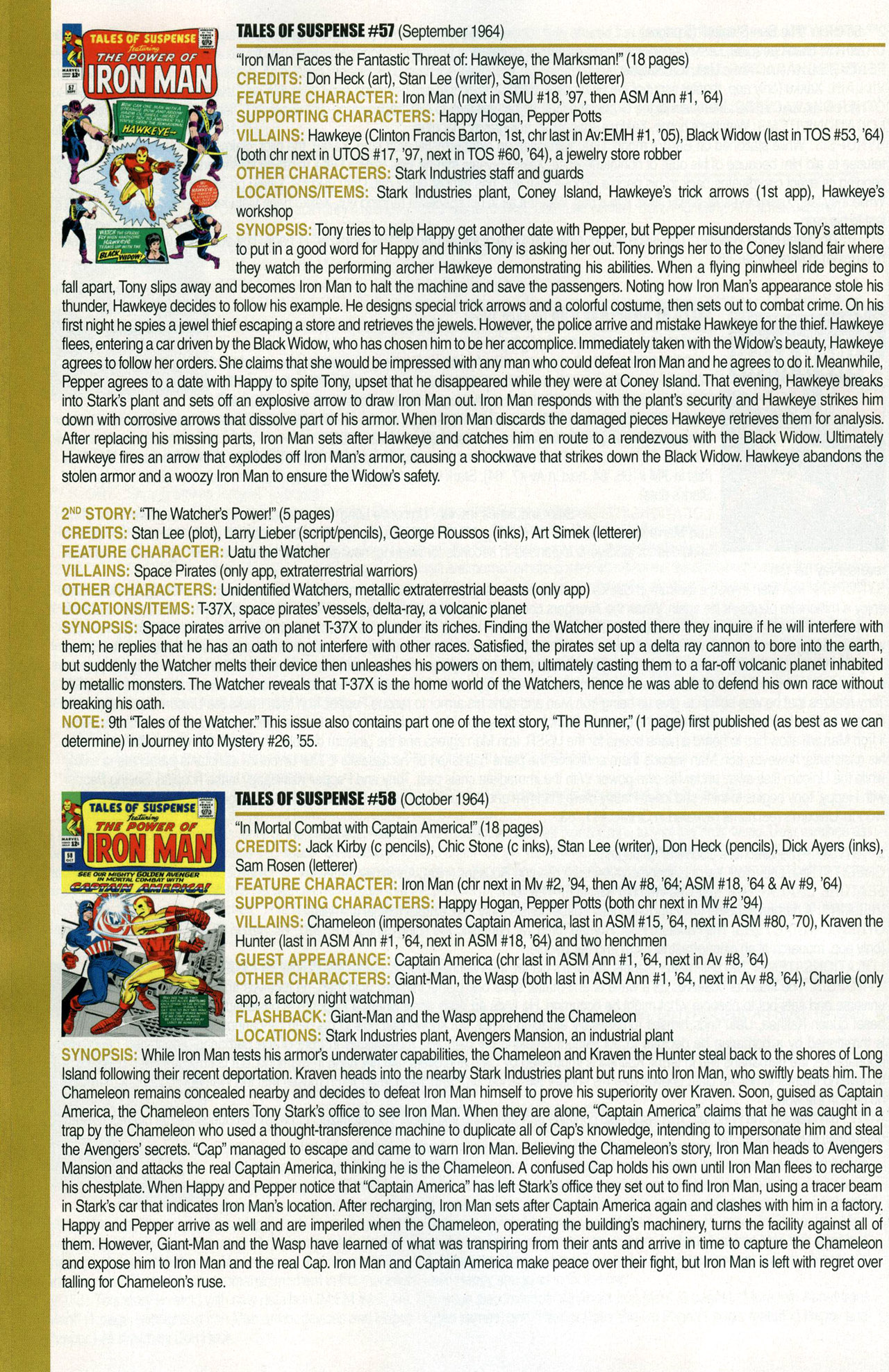 Read online Official Index to the Marvel Universe comic -  Issue #1 - 36