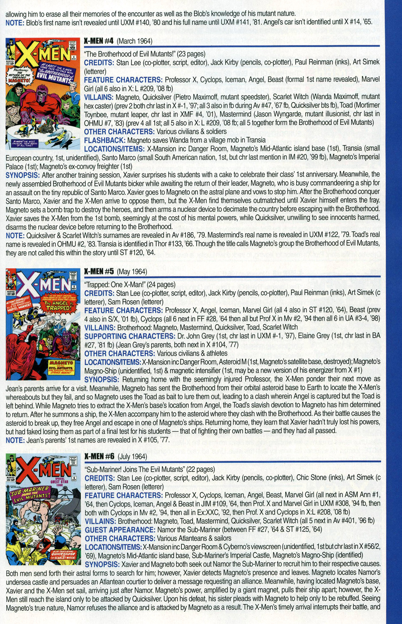Read online Official Index to the Marvel Universe comic -  Issue #1 - 47