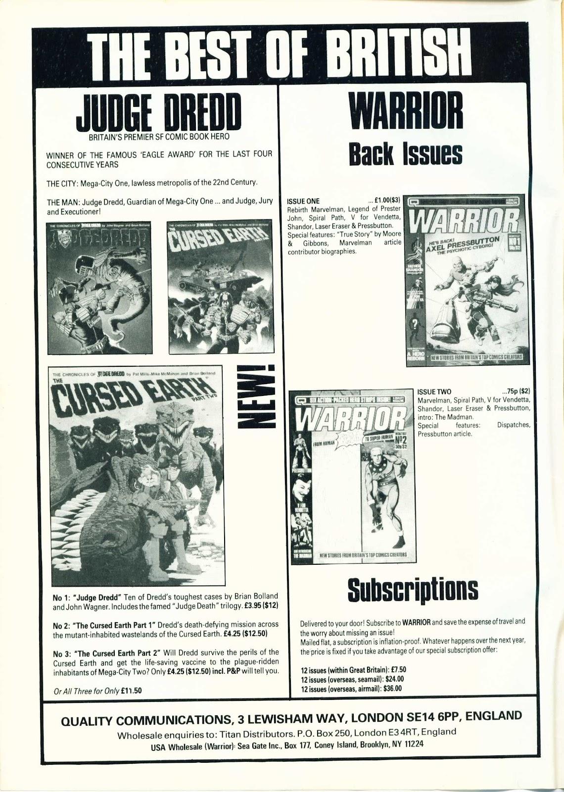 Warrior Issue #3 #4 - English 2