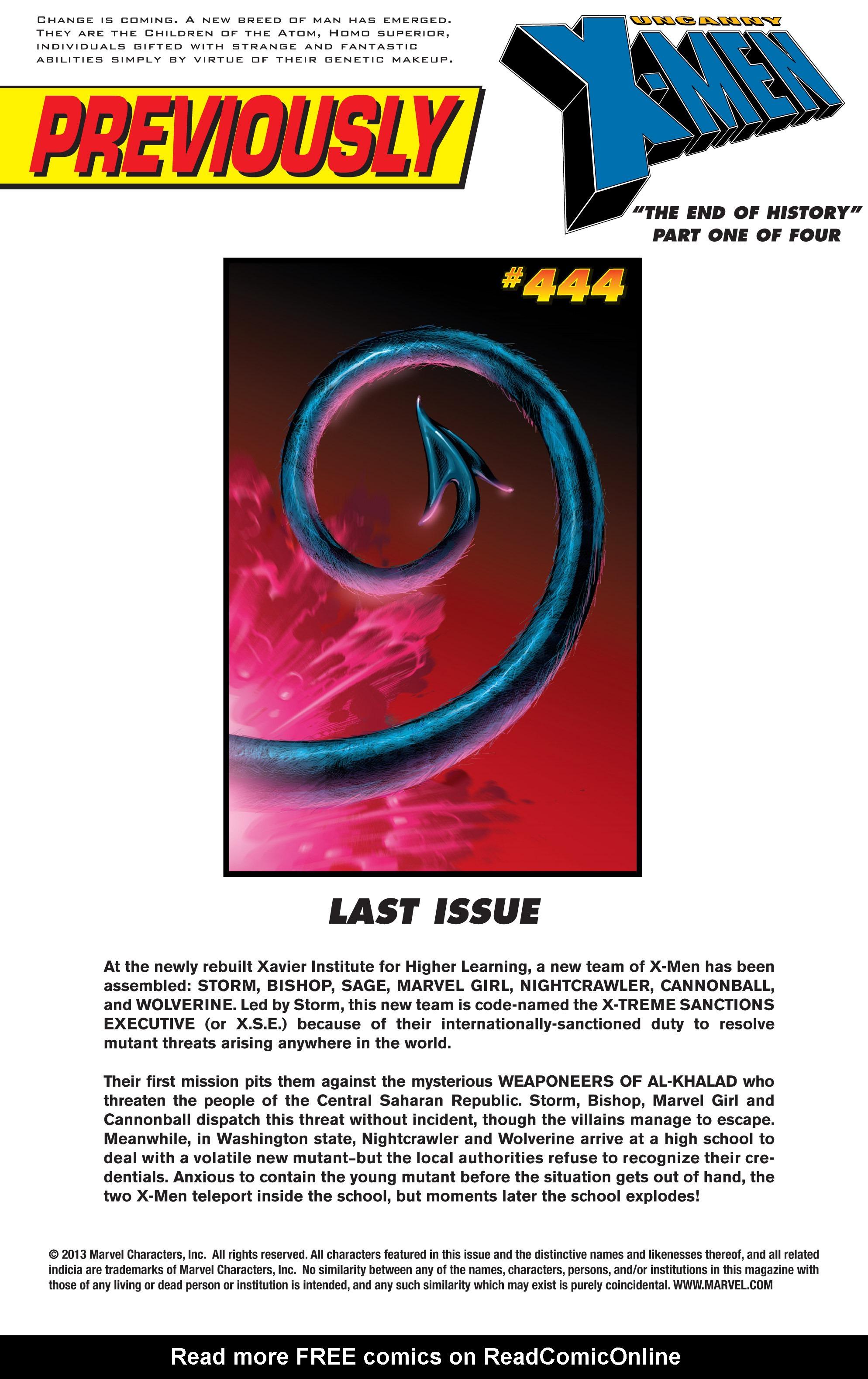 Read online Uncanny X-Men (1963) comic -  Issue #445 - 2