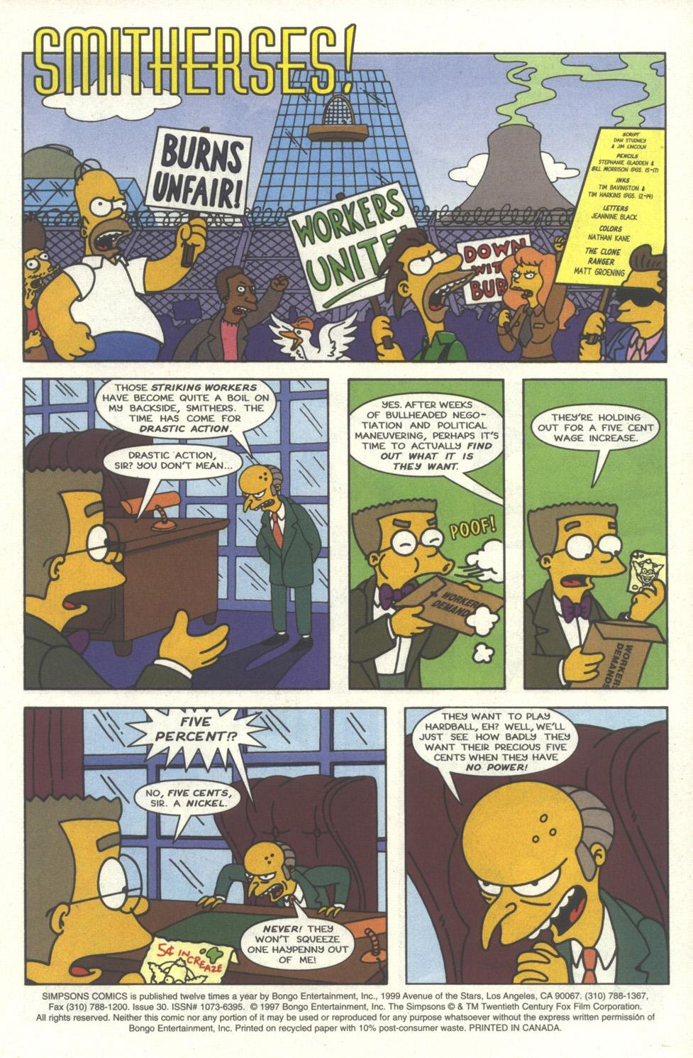 Read online Simpsons Comics comic -  Issue #30 - 2