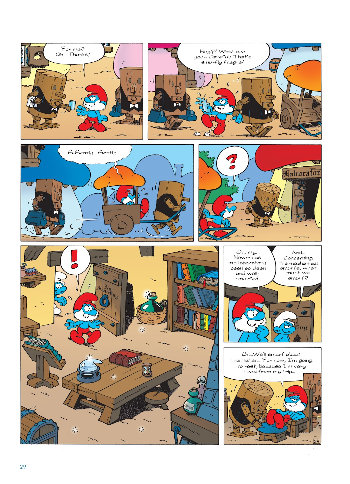 Read online The Smurfs comic -  Issue #23 - 29