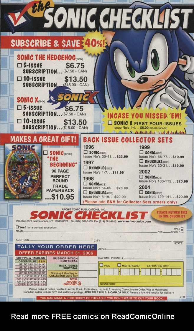 Read online Sonic X comic -  Issue #5 - 34