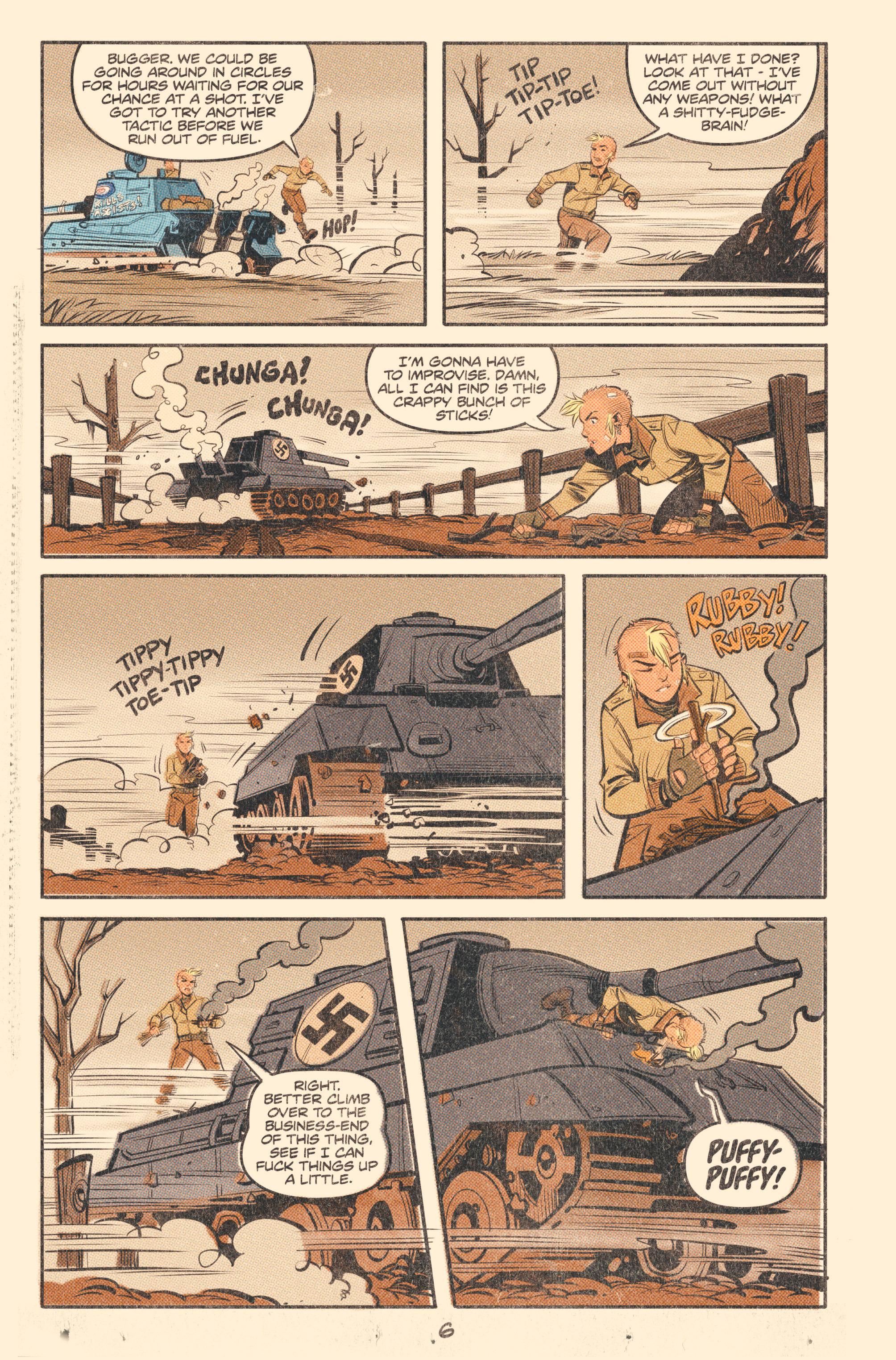 Read online Tank Girl: World War Tank Girl comic -  Issue #2 - 8