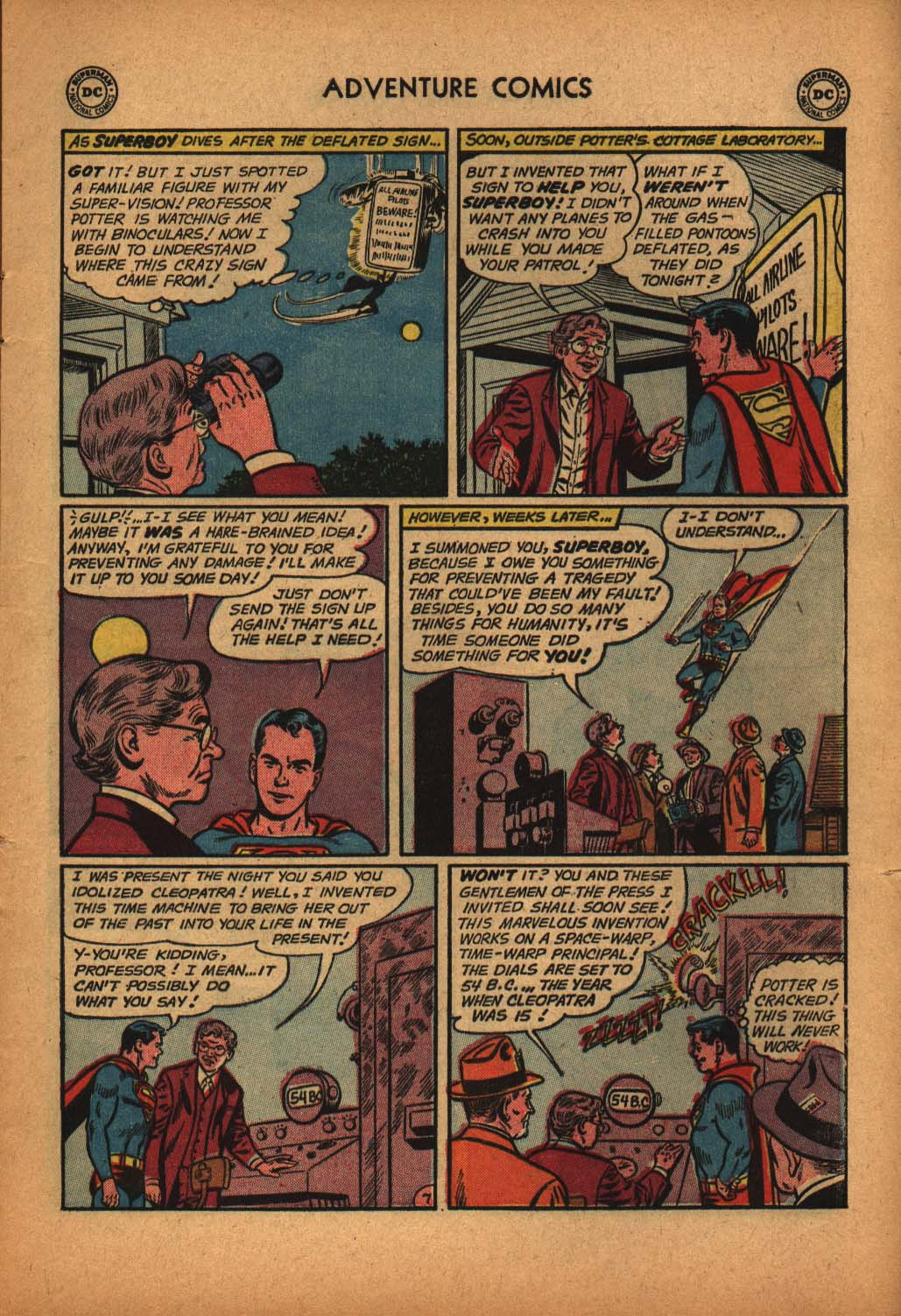 Read online Adventure Comics (1938) comic -  Issue #291 - 9
