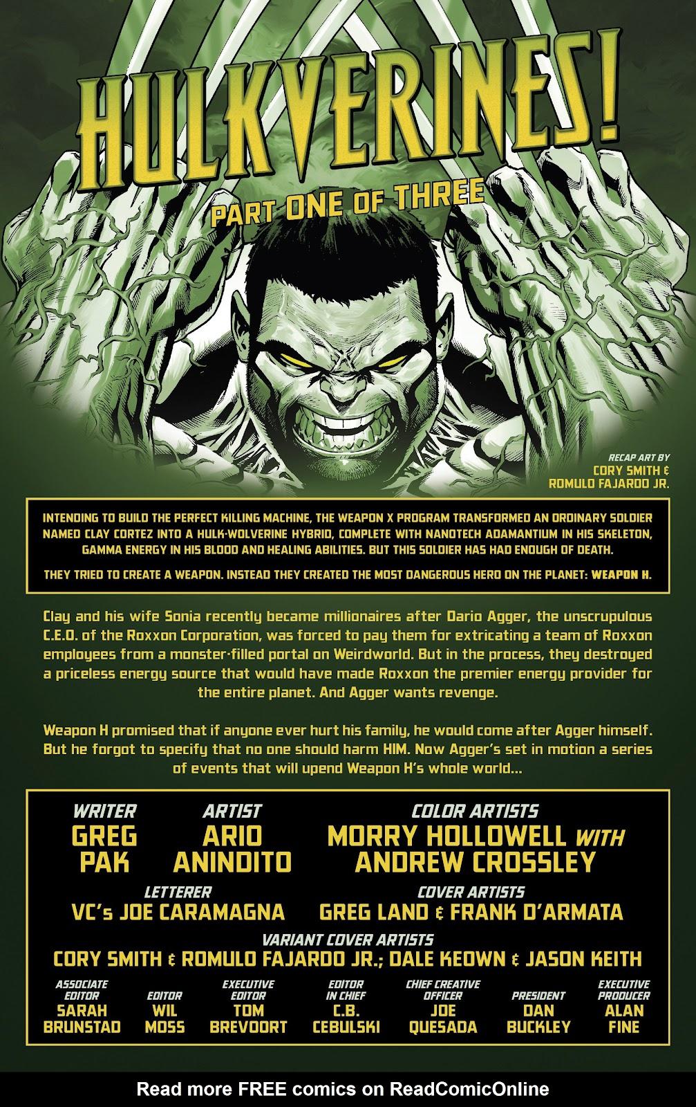 Read online Hulkverines comic -  Issue #1 - 2