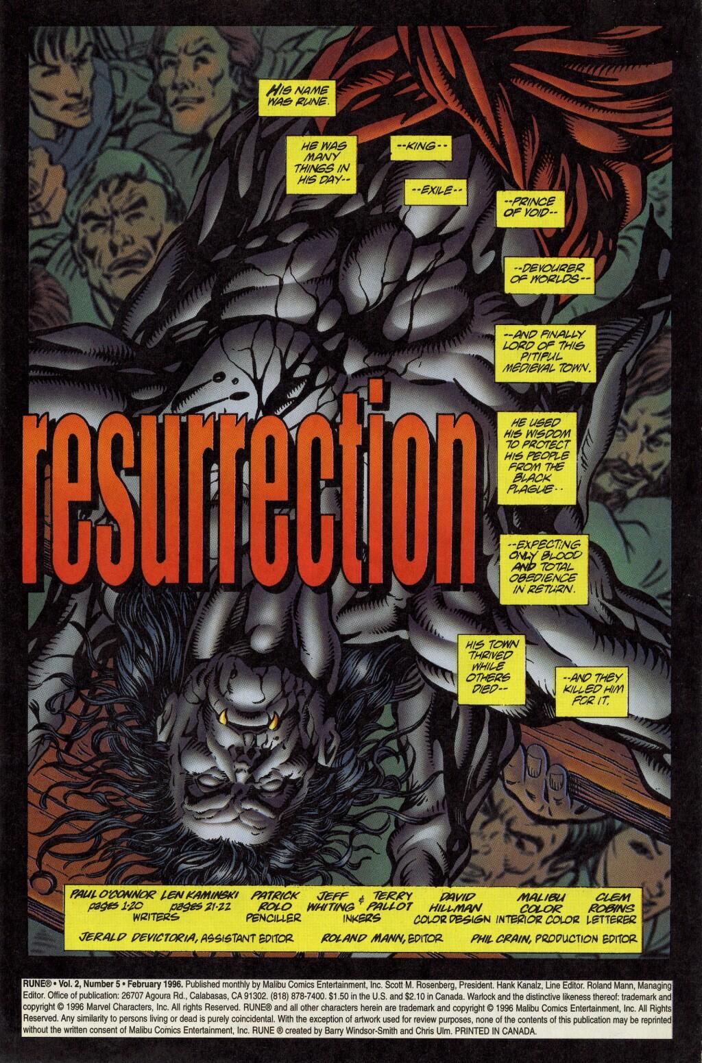 Read online Rune (1995) comic -  Issue #5 - 2