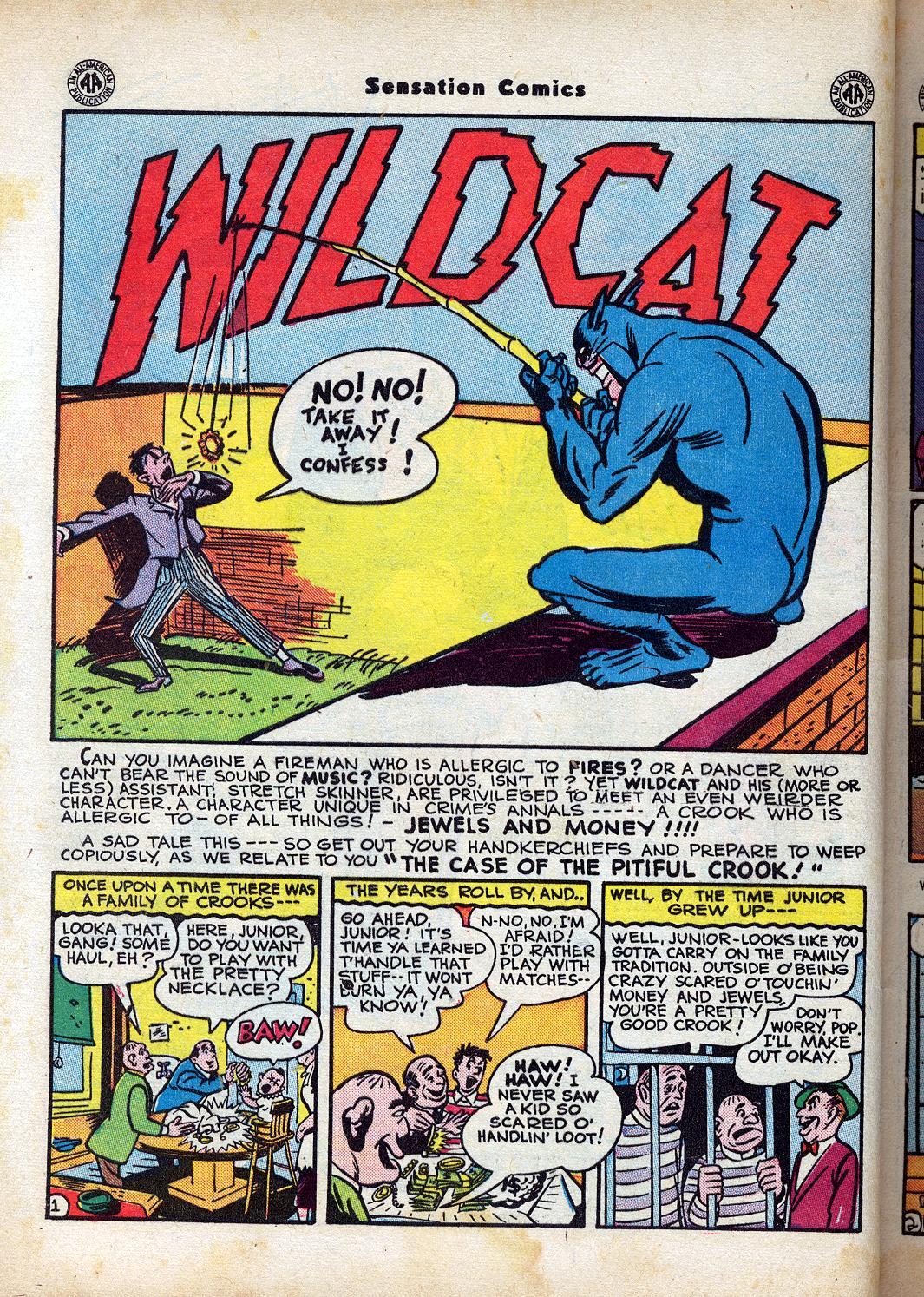 Read online Sensation (Mystery) Comics comic -  Issue #47 - 42