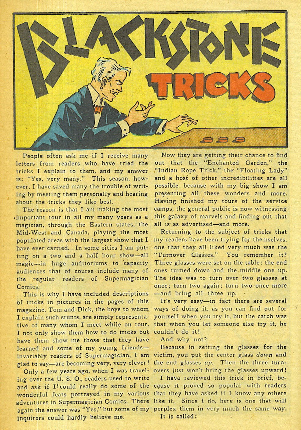 Read online Super-Magician Comics comic -  Issue #36 - 21