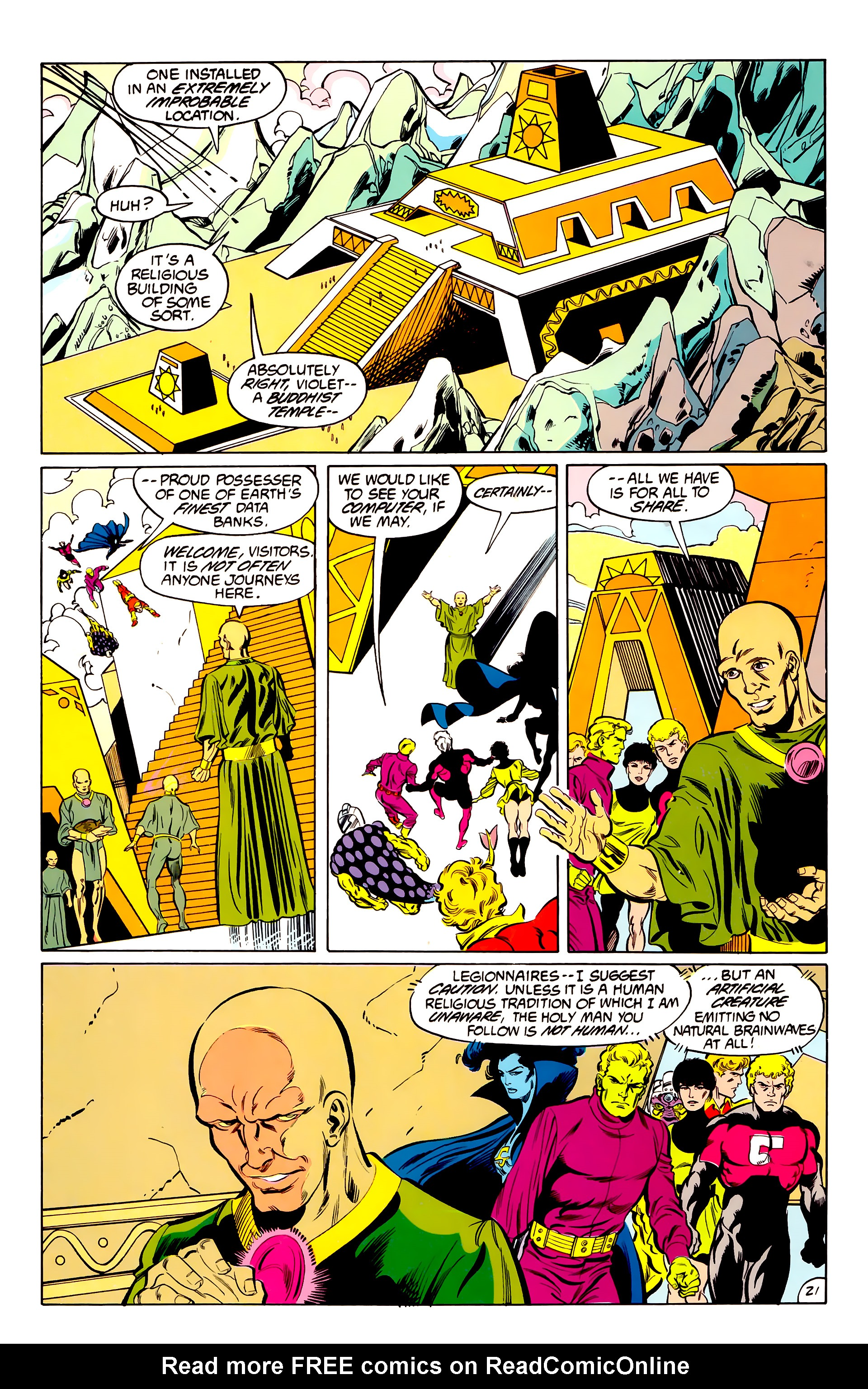 Legion of Super-Heroes (1984) 42 Page 21