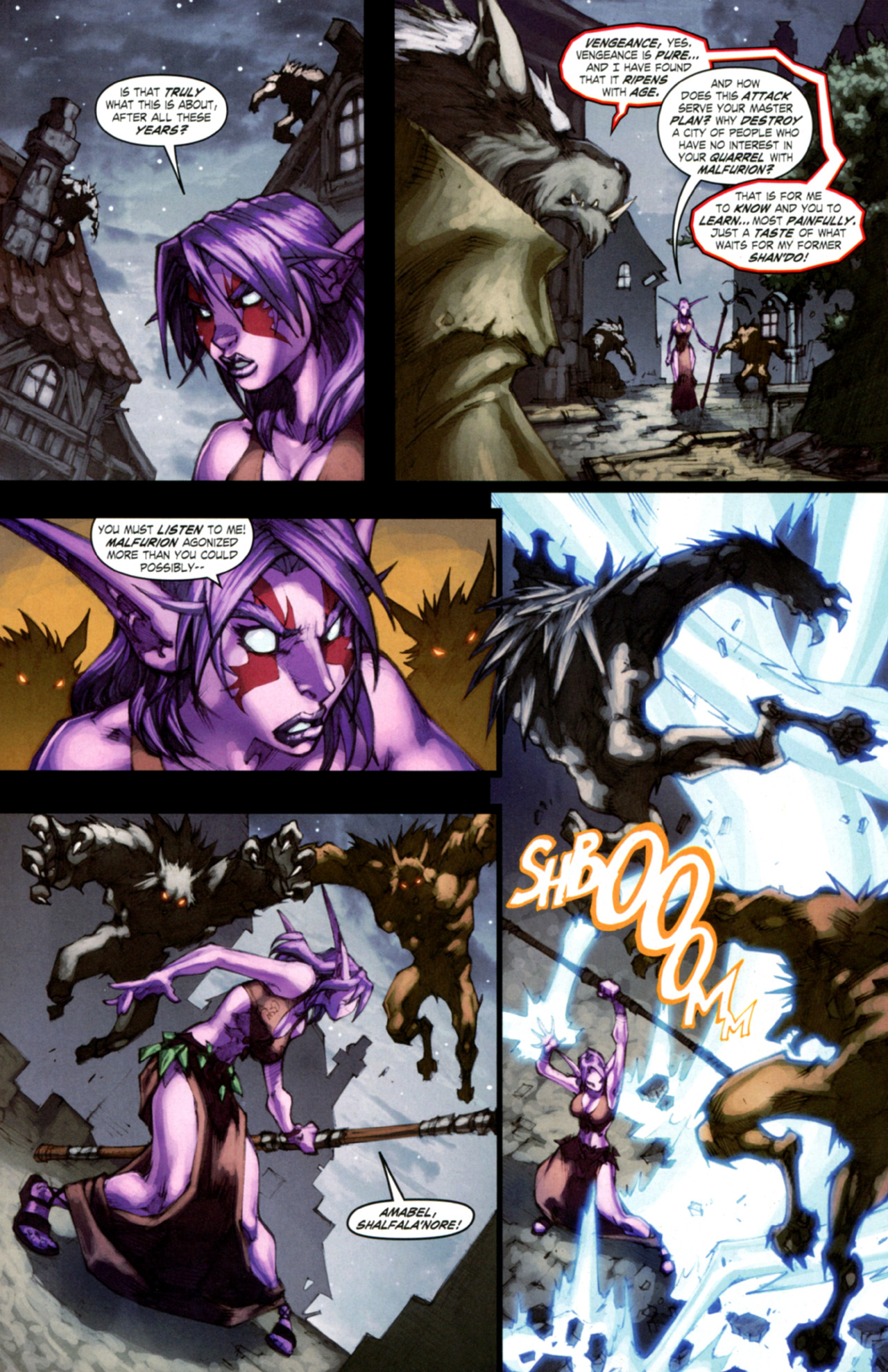 Read online World of Warcraft: Curse of the Worgen comic -  Issue #4 - 7
