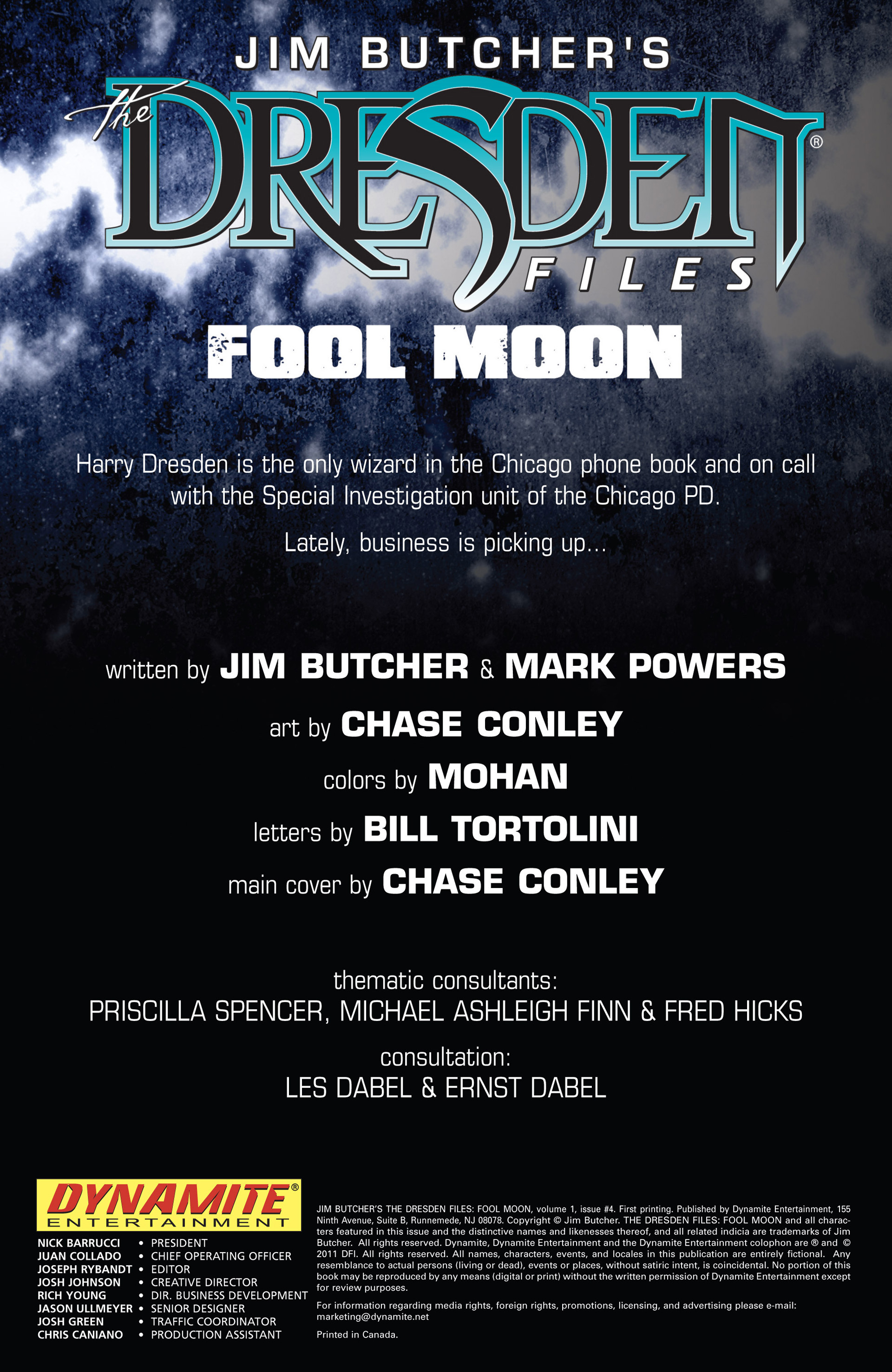 Read online Jim Butcher's The Dresden Files: Fool Moon comic -  Issue #4 - 2