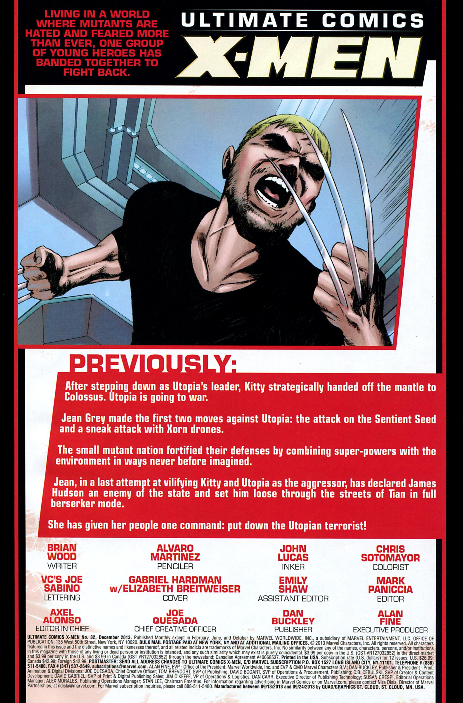 Read online Ultimate Comics X-Men comic -  Issue #32 - 2