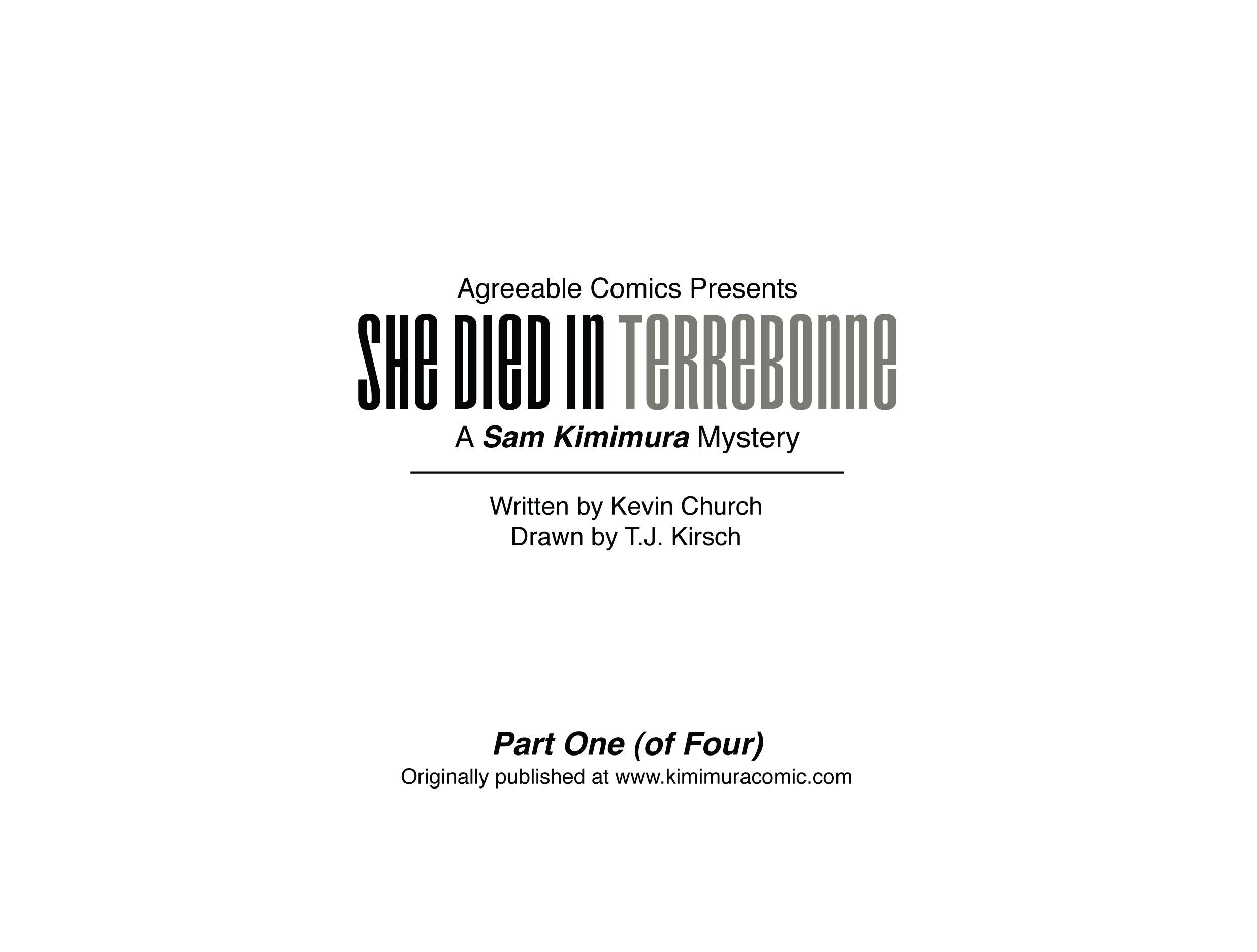 Read online She Died In Terrebonne comic -  Issue #1 - 3