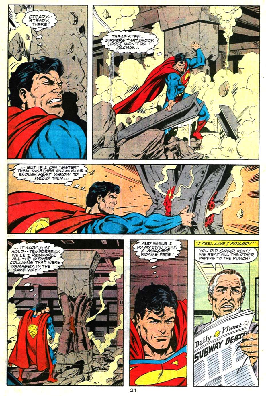 Read online Adventures of Superman (1987) comic -  Issue #481 - 22