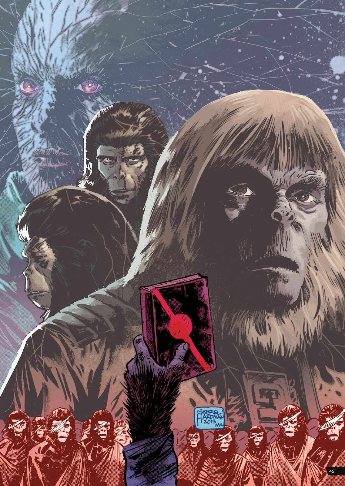 Read online Planet of the Apes Artist Tribute comic -  Issue # TPB - 45