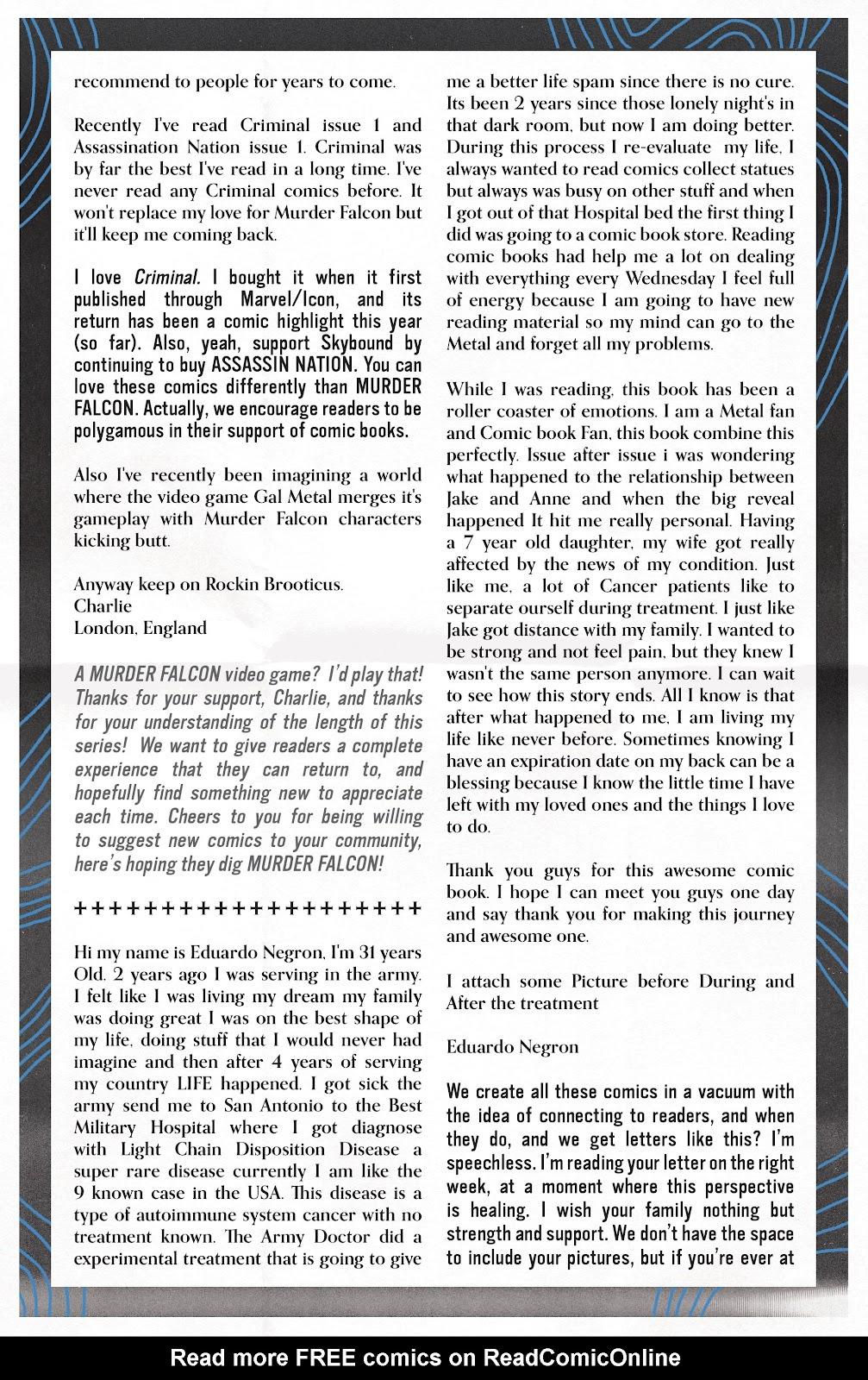 Read online Murder Falcon comic -  Issue #8 - 28
