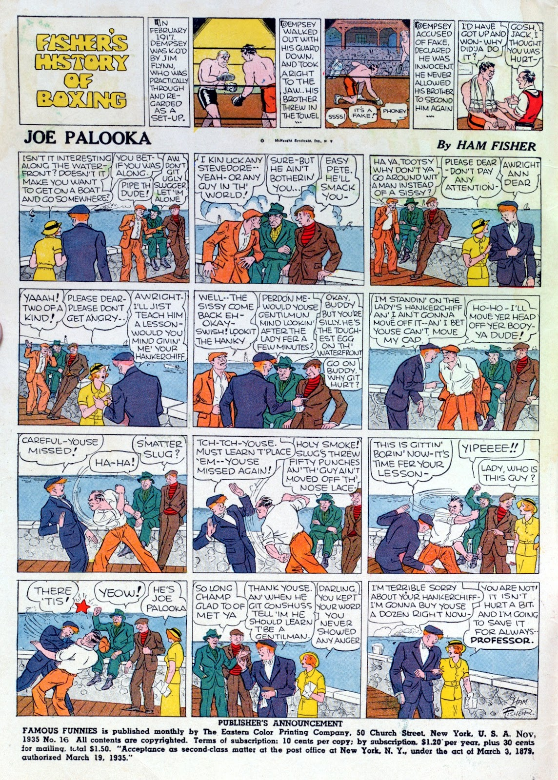 Read online Famous Funnies comic -  Issue #16 - 2