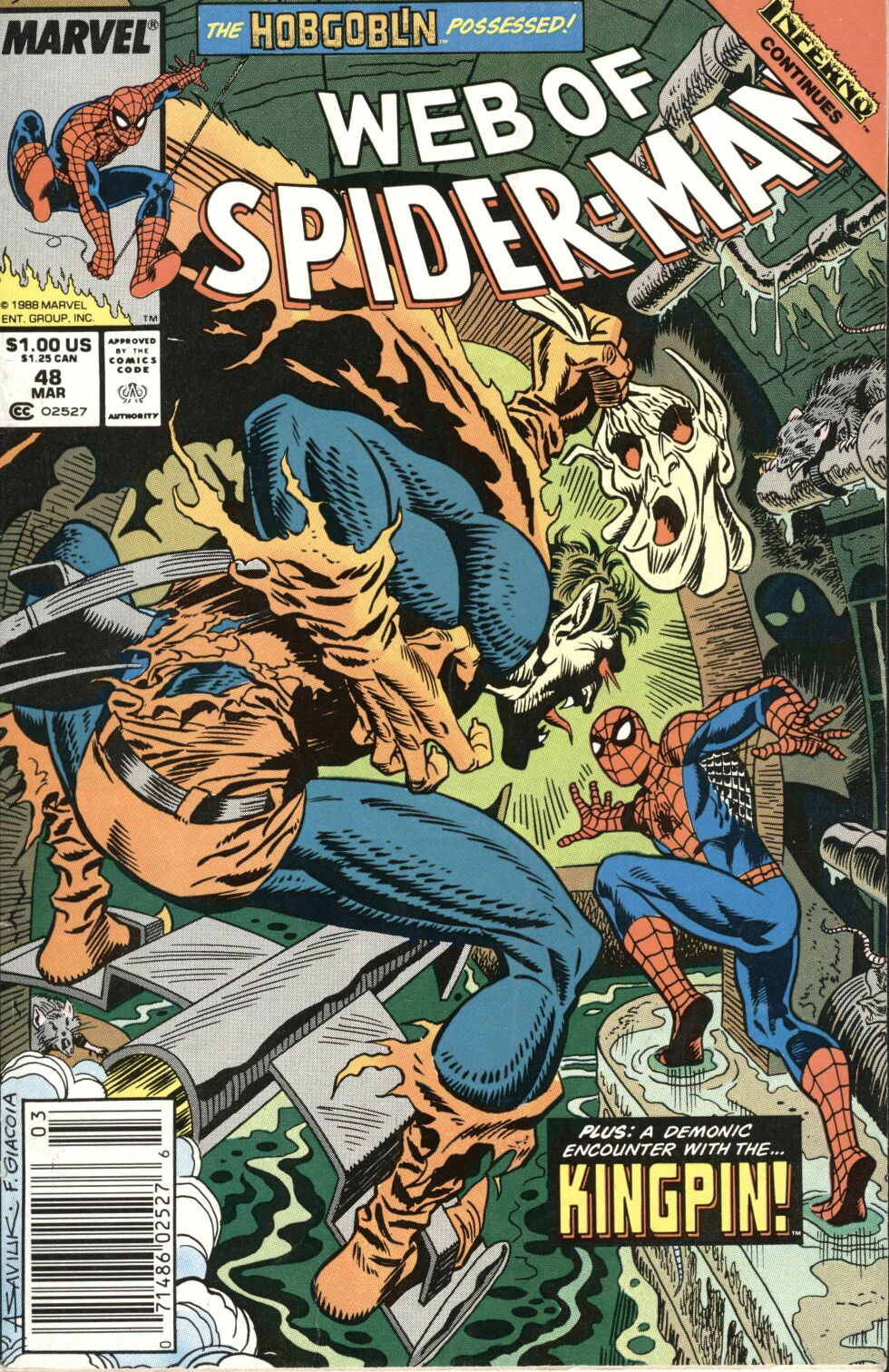 Web of Spider-Man (1985) 48 Page 1
