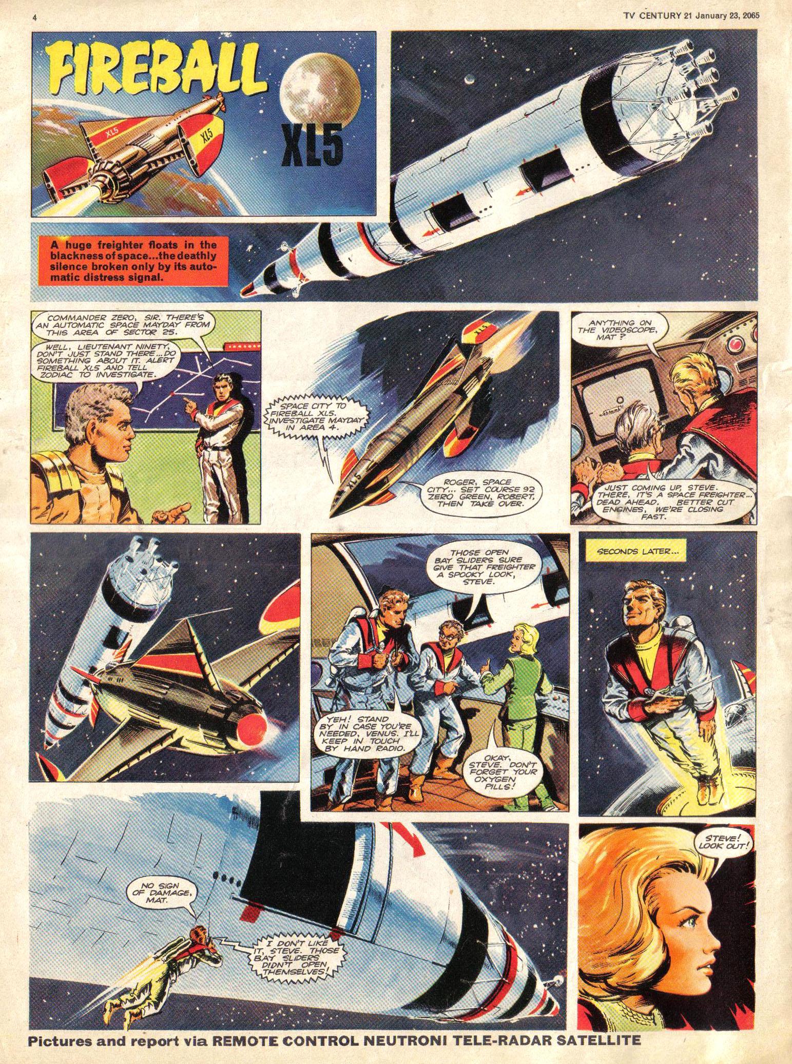 Read online TV Century 21 (TV 21) comic -  Issue #1 - 4