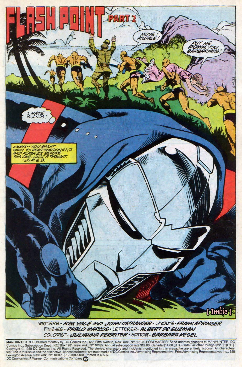 Manhunter (1988) issue 9 - Page 2