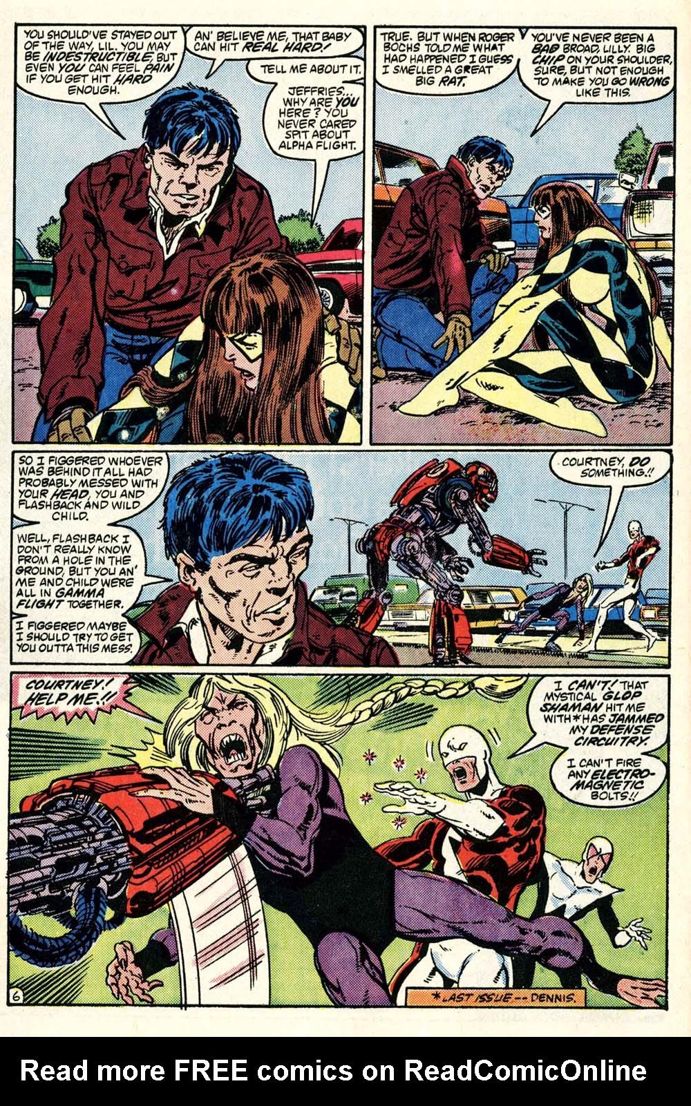 Read online Alpha Flight (1983) comic -  Issue #28 - 7