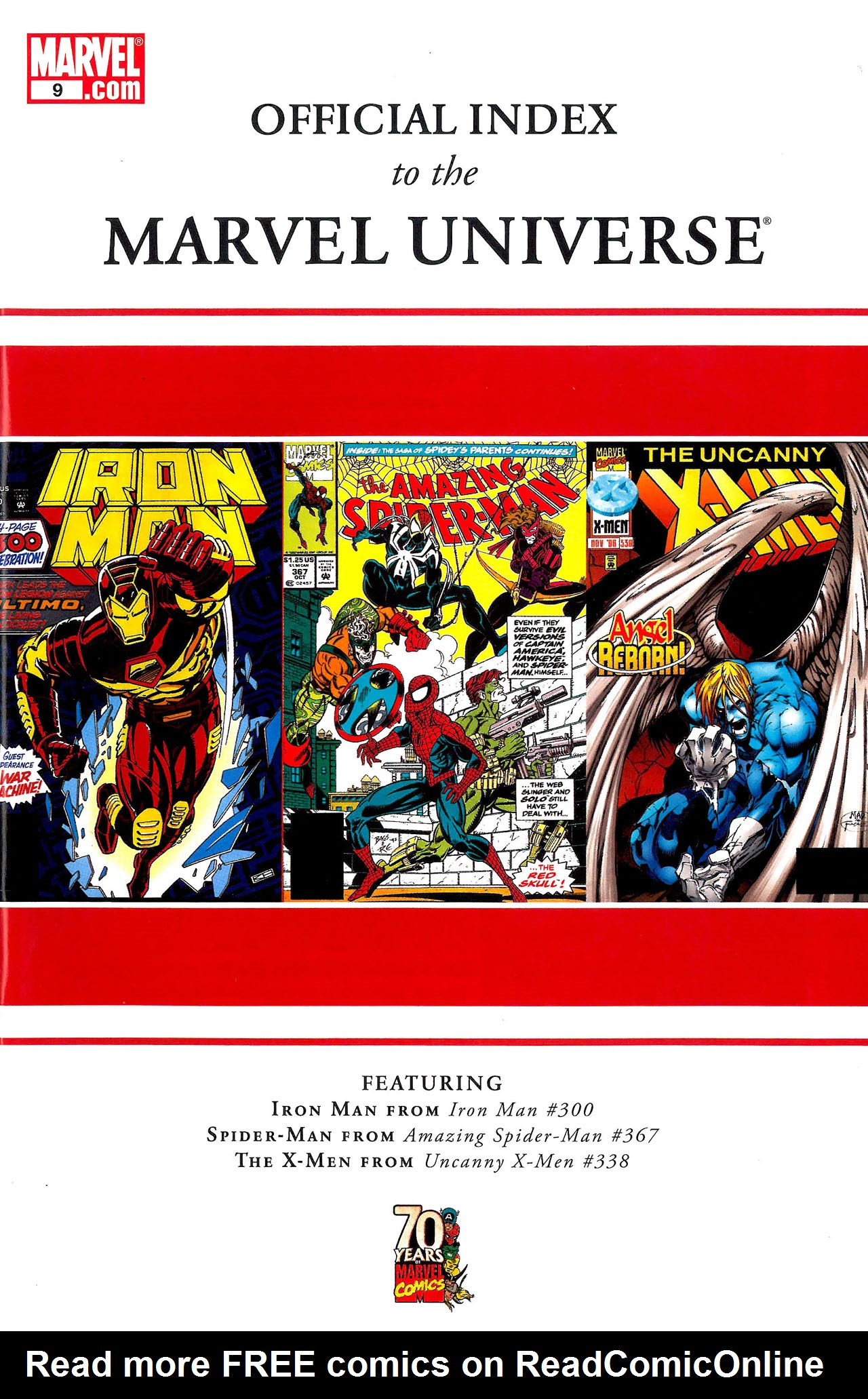 Read online Official Index to the Marvel Universe comic -  Issue #9 - 1