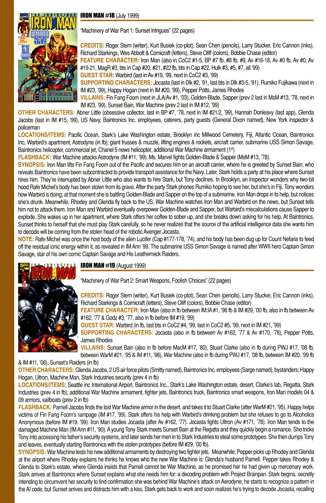 Read online Official Index to the Marvel Universe comic -  Issue #10 - 36