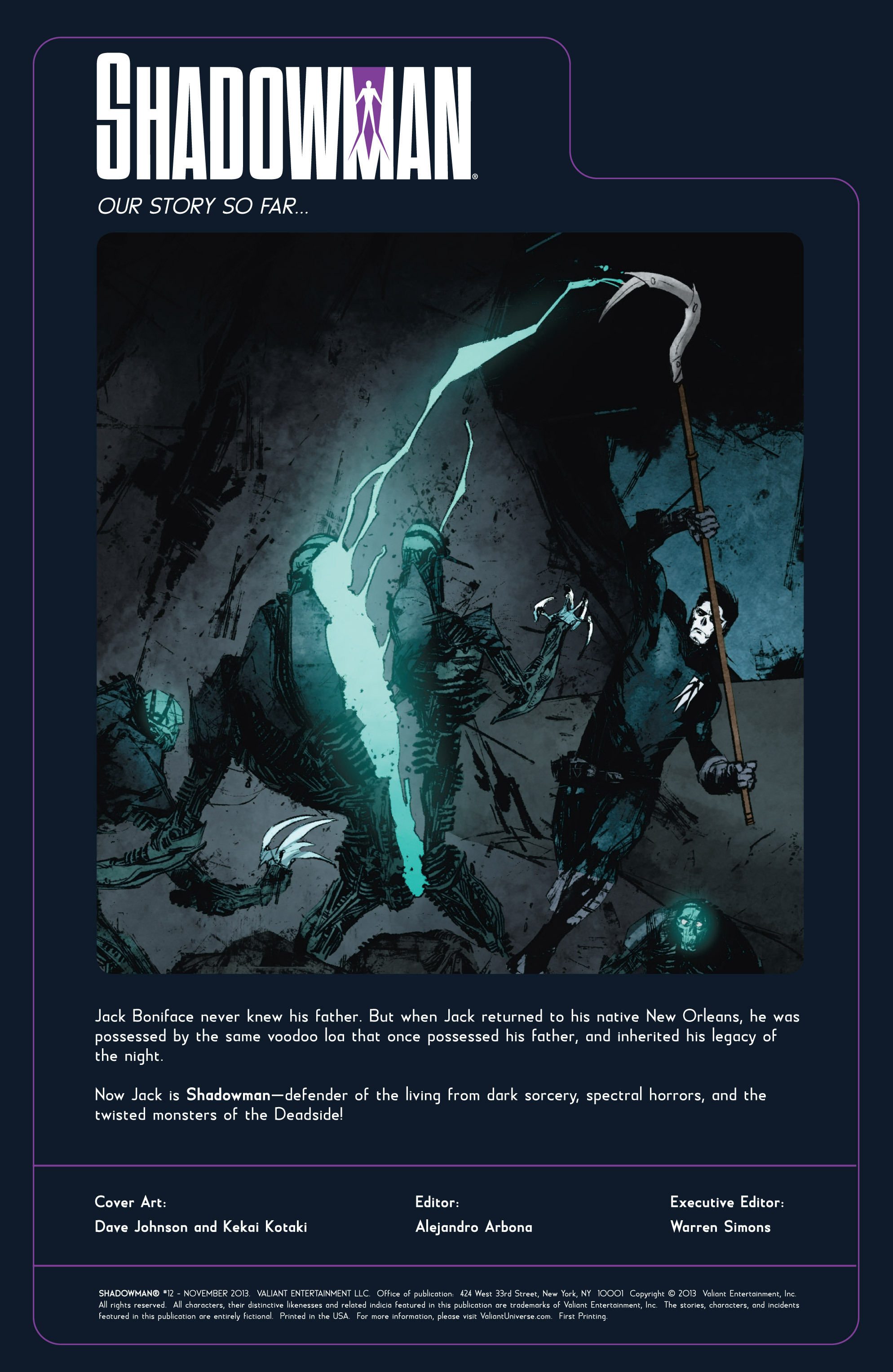 Read online Shadowman (2012) comic -  Issue #12 - 2