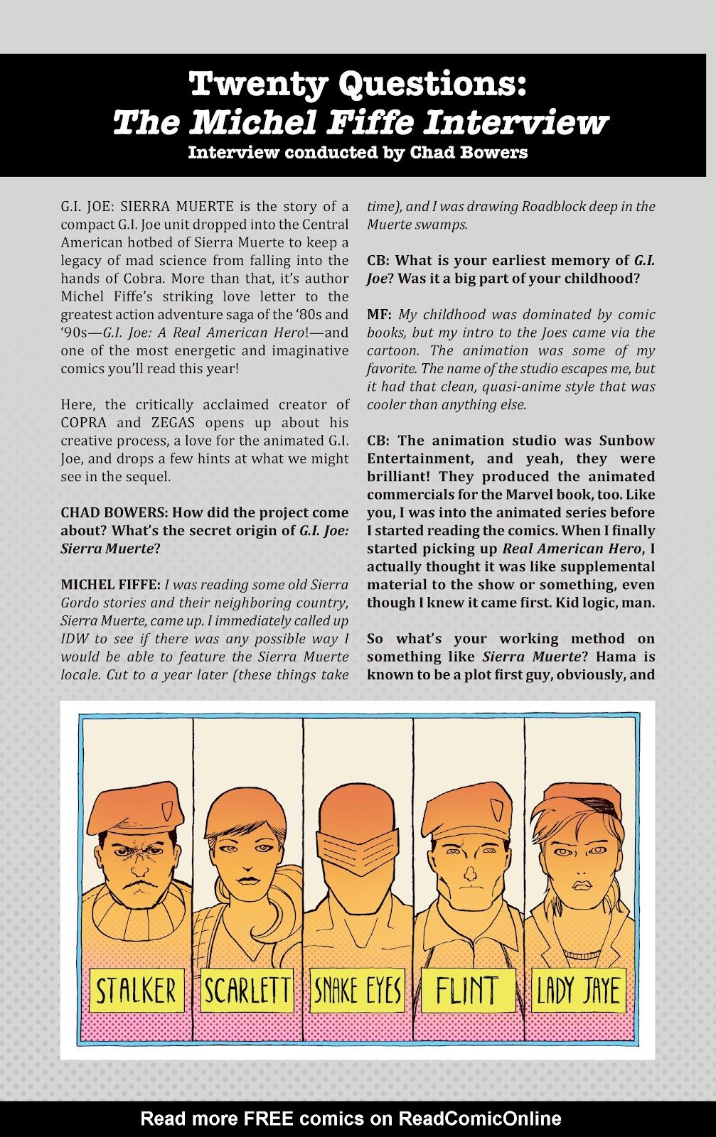 Read online G.I. Joe: Sierra Muerte comic -  Issue #3 - 28