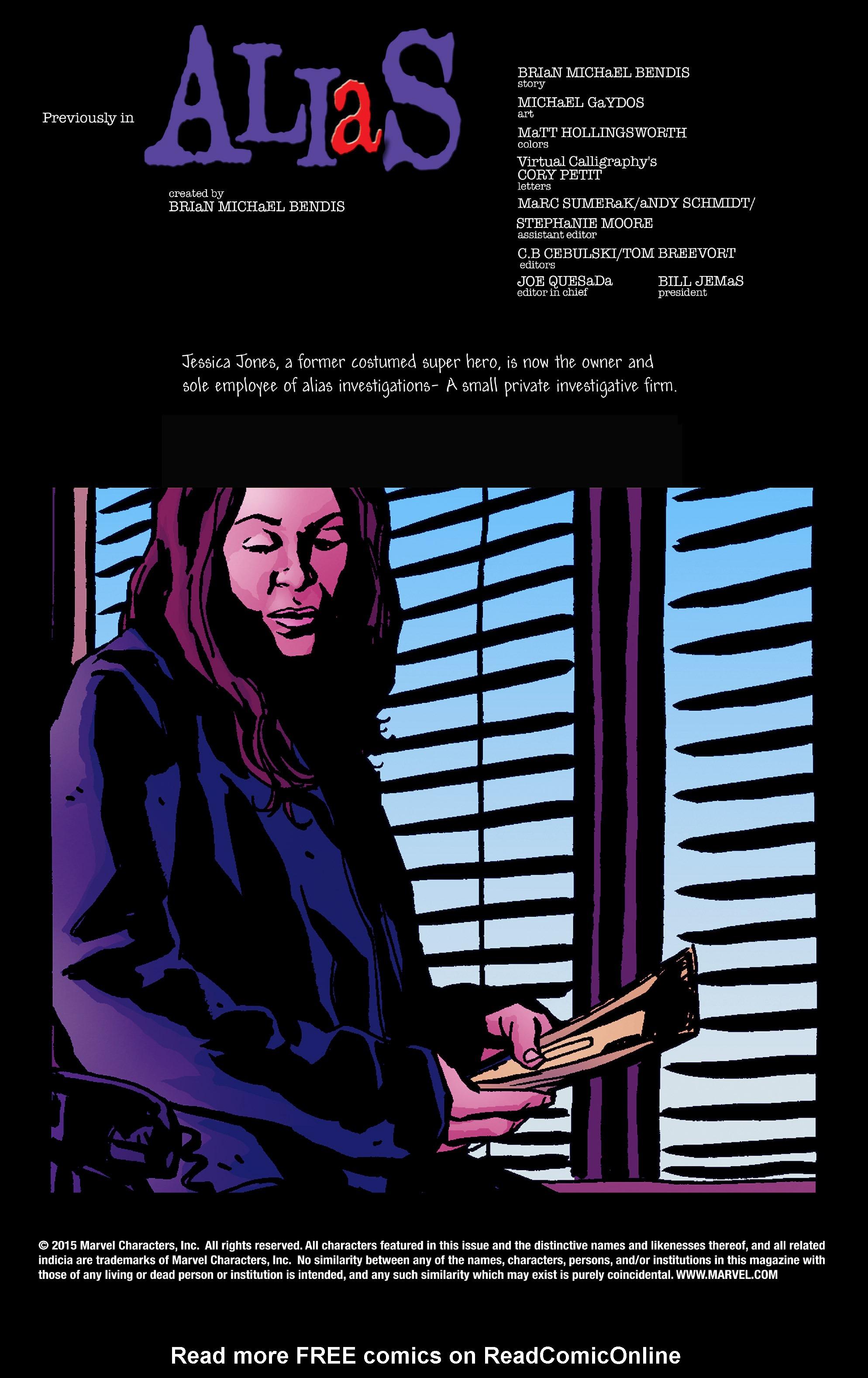 Read online Alias comic -  Issue #24 - 2