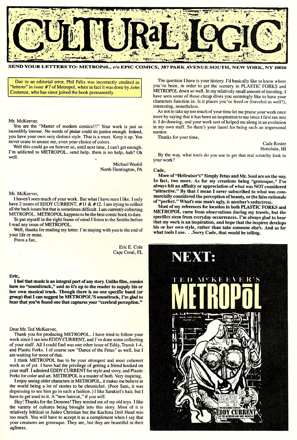 Read online Ted McKeever's Metropol comic -  Issue #9 - 31