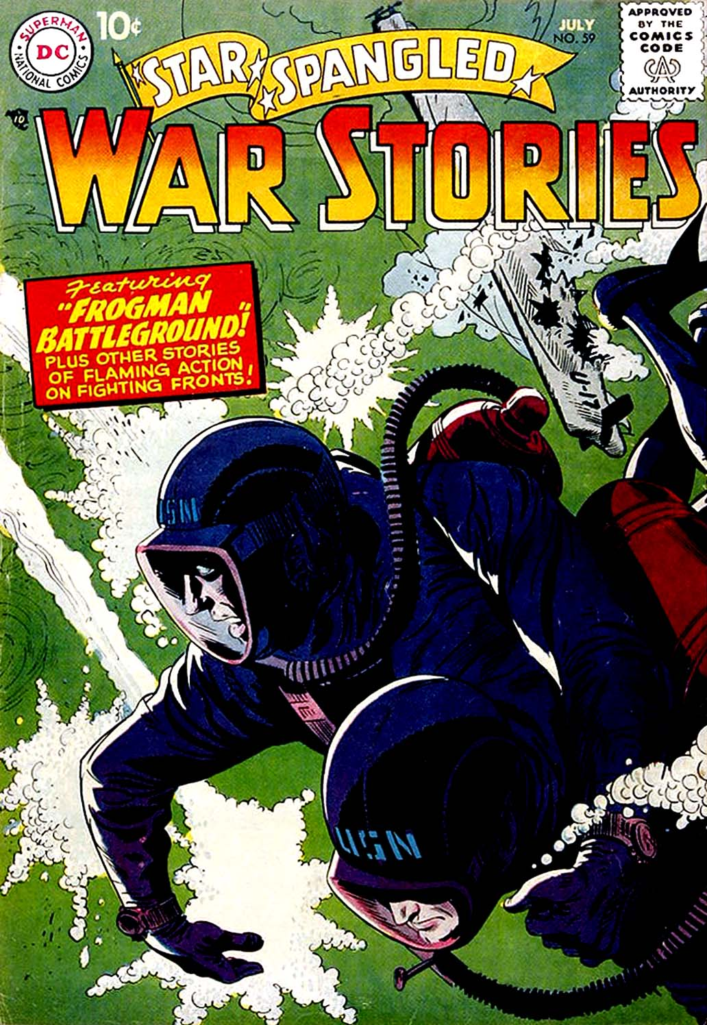 Star Spangled War Stories (1952) issue 59 - Page 1