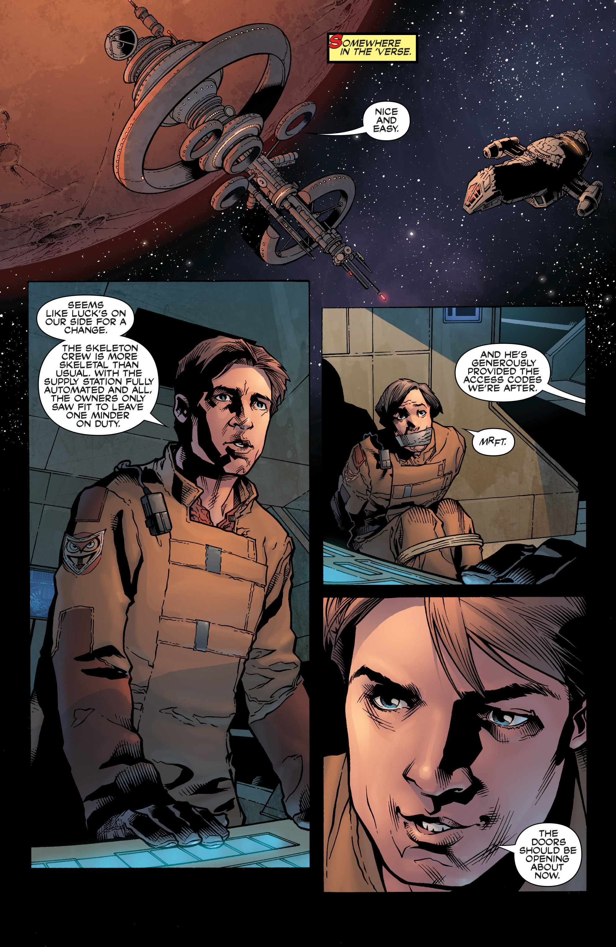 Read online Serenity: Firefly Class 03-K64 – No Power in the 'Verse comic -  Issue #1 - 12