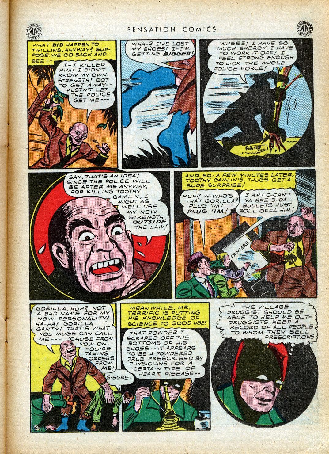 Read online Sensation (Mystery) Comics comic -  Issue #40 - 35
