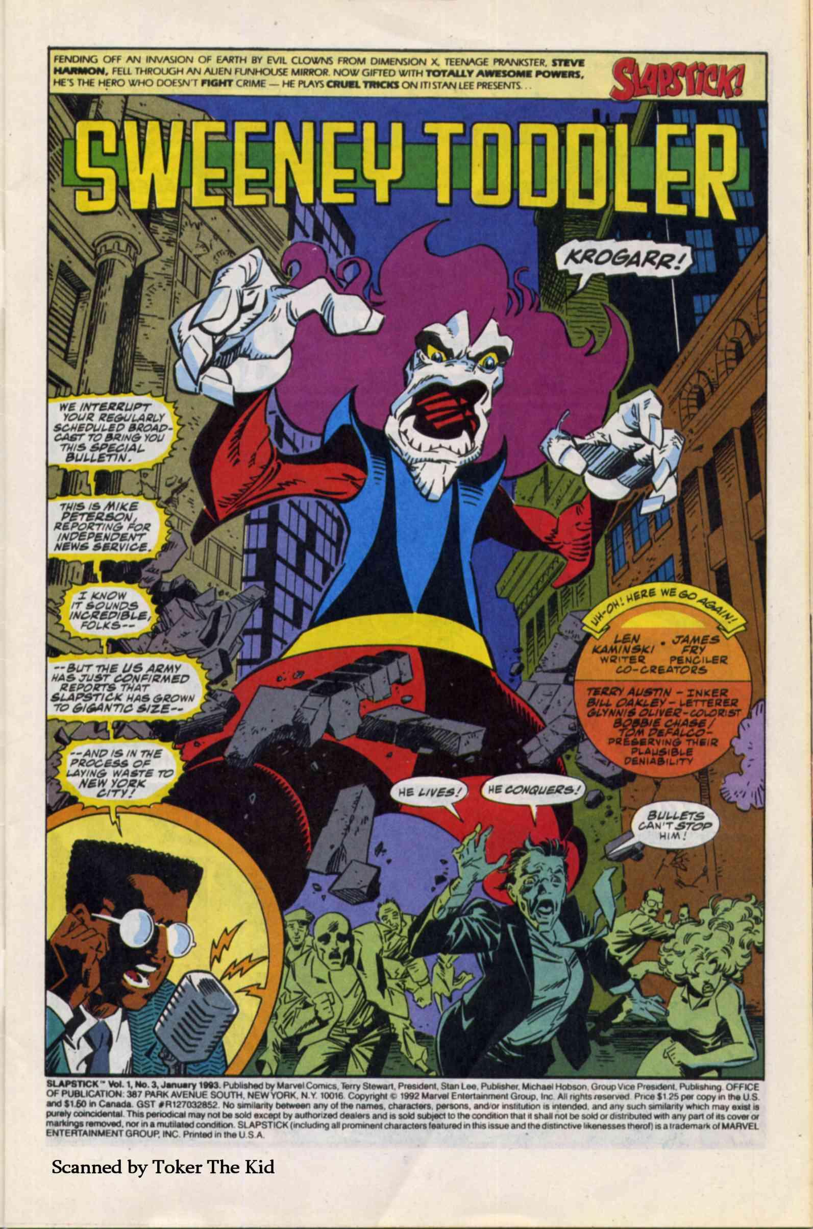 Read online Slapstick comic -  Issue #3 - 2