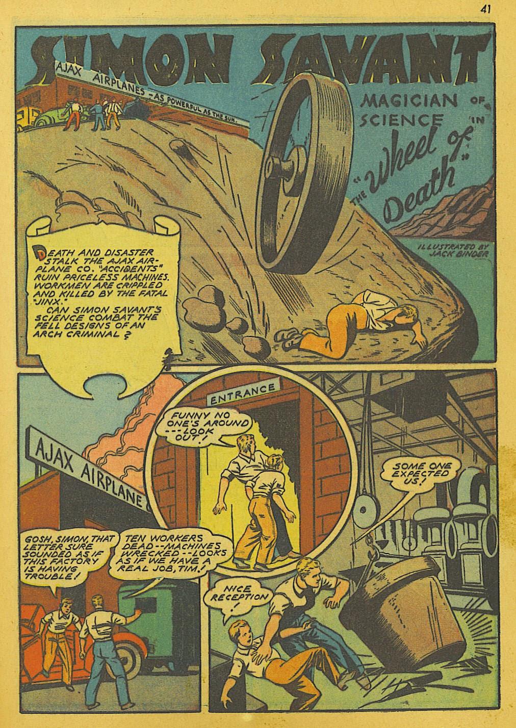 Read online Super-Magician Comics comic -  Issue #10 - 41