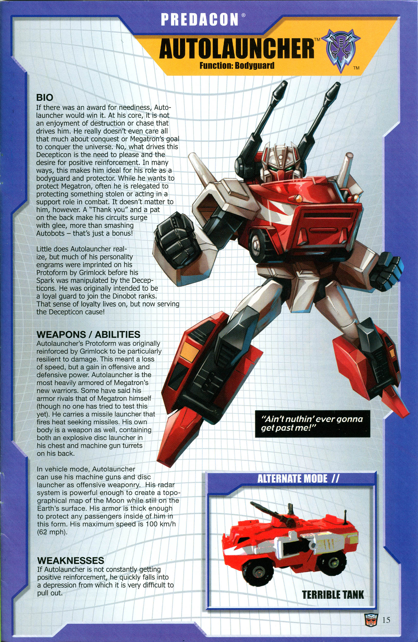 Read online Transformers: Collectors' Club comic -  Issue #53 - 15