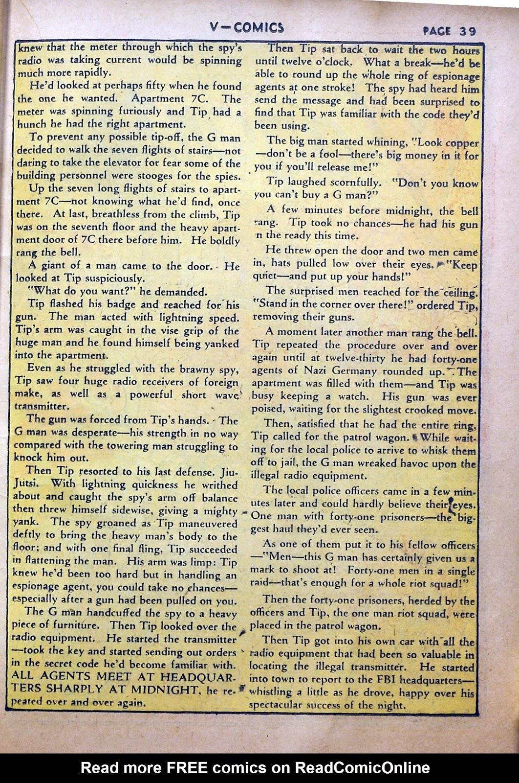 Read online V...- Comics comic -  Issue #2 - 40