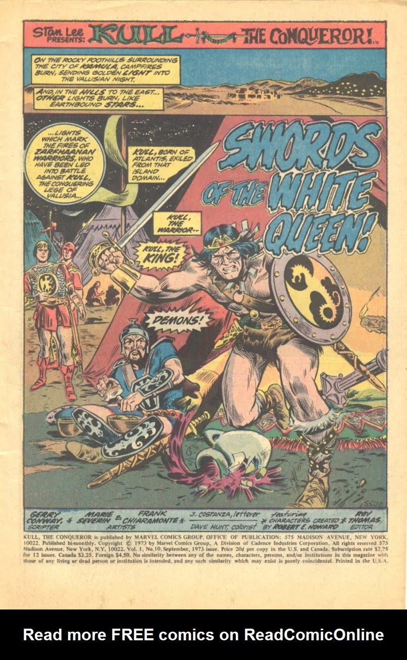 Kull, the Conqueror (1971) issue 10 - Page 2